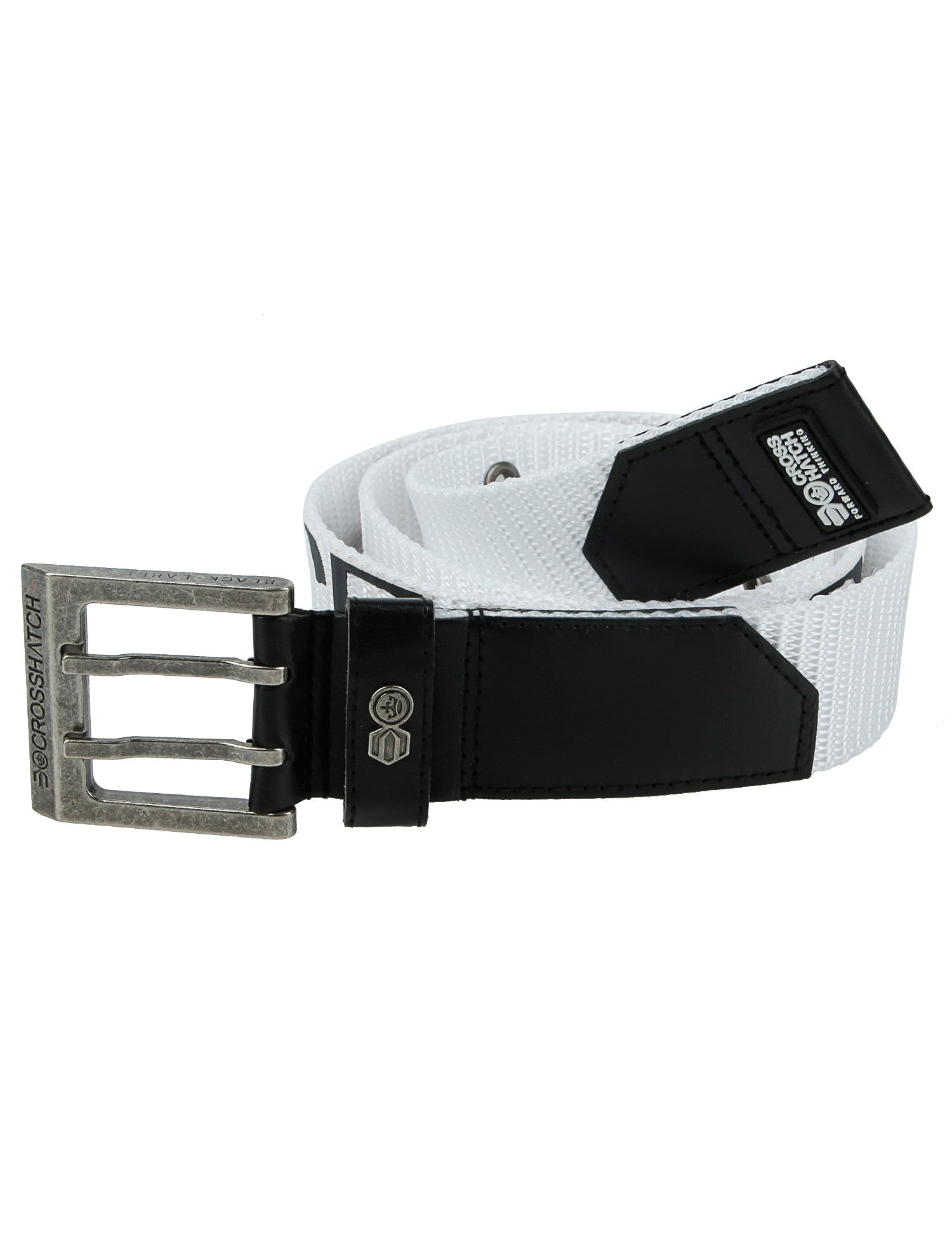 Crosshatch Bevel Belt CH2L109098AA2TTB White
