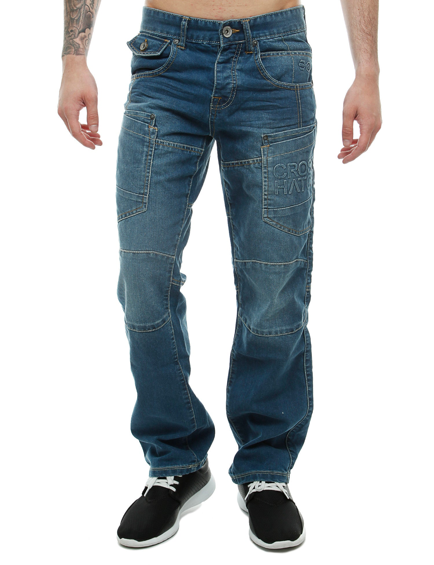 Crosshatch Parcoz Jeans CH108913 Blue