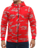 Violento Zip Hoody 658 Red