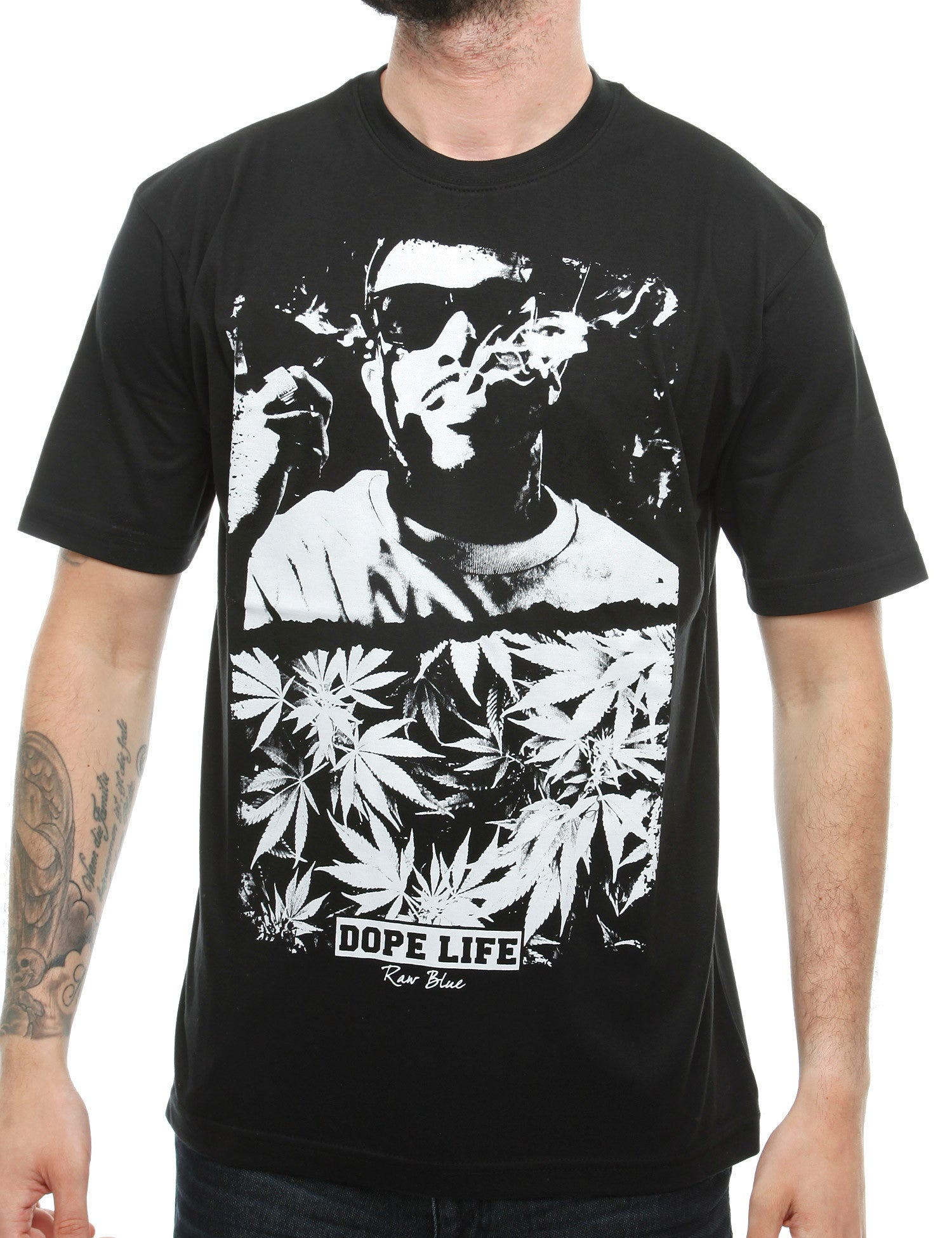 Raw Blue Smoke T-Shirt RB16-006 Black