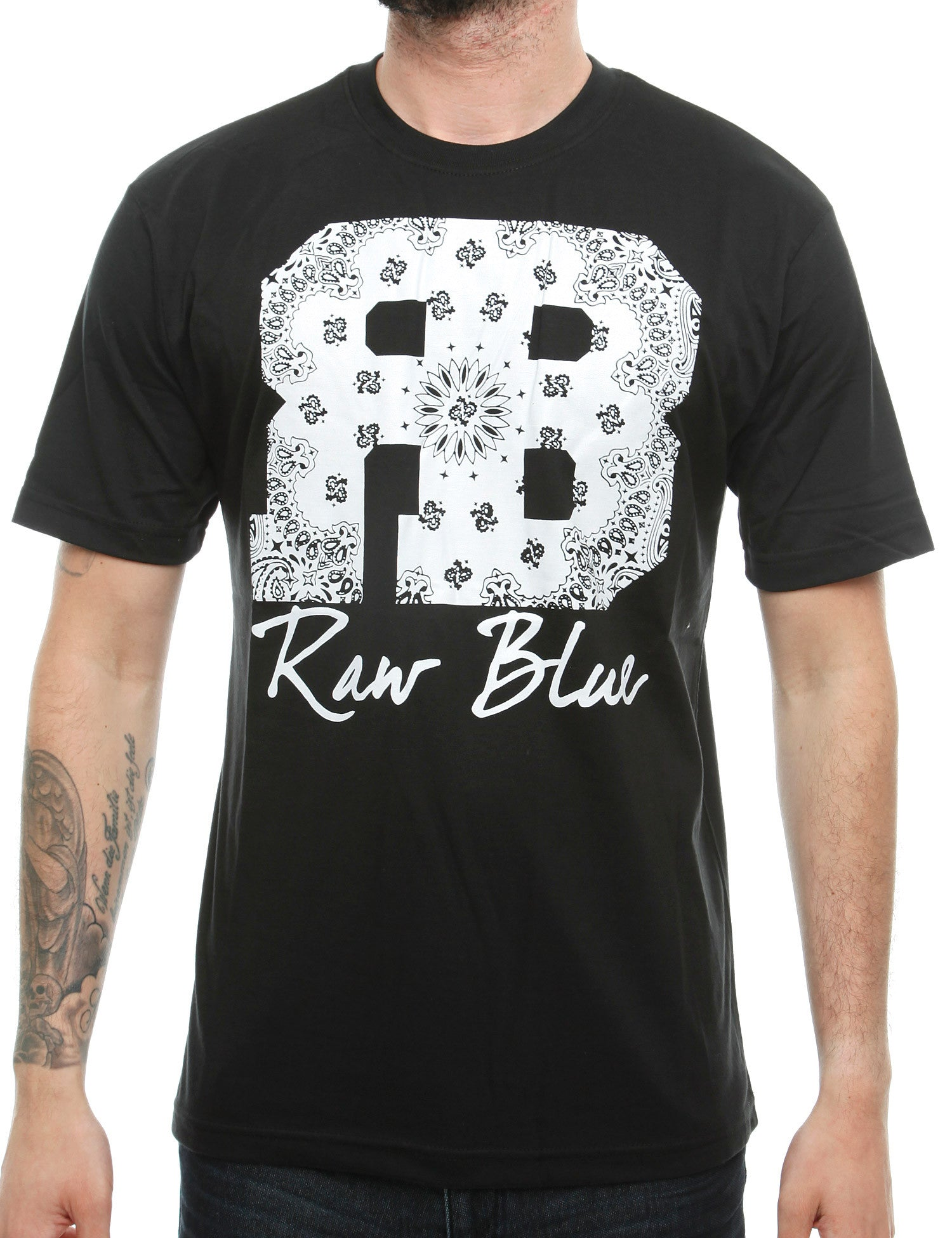 Raw Blue RB Bandana T-Shirt RB16-010 Black