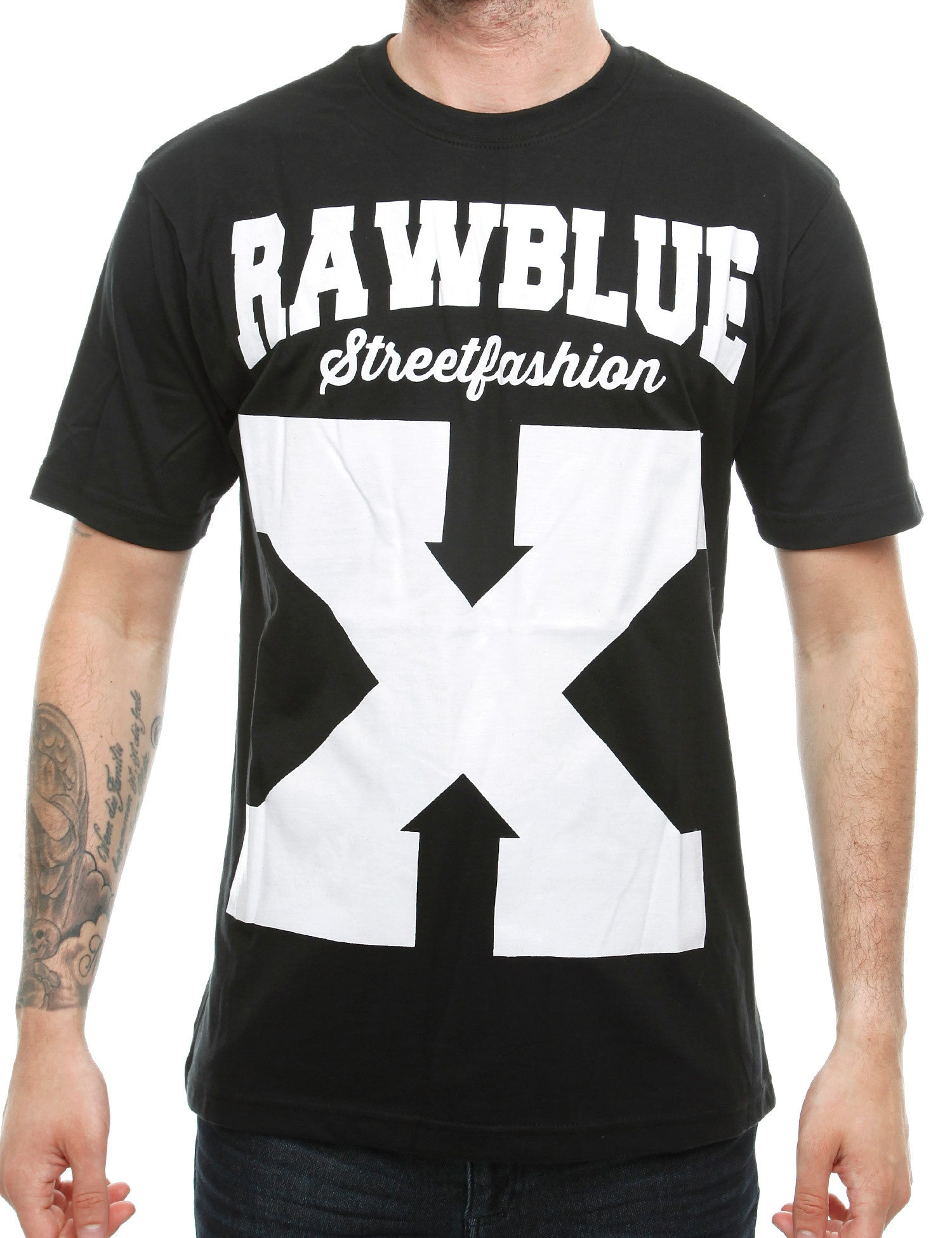Raw Blue X-Street T-Shirt RB16-012 Black