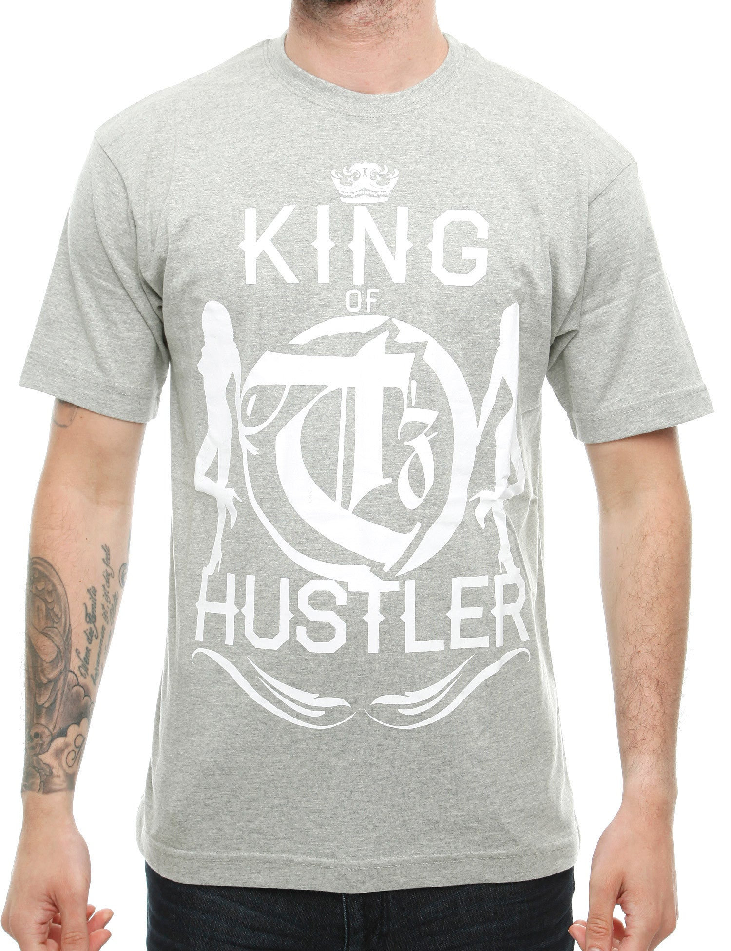 Townz King Hustle T-Shirt TNZ16-003 Grey