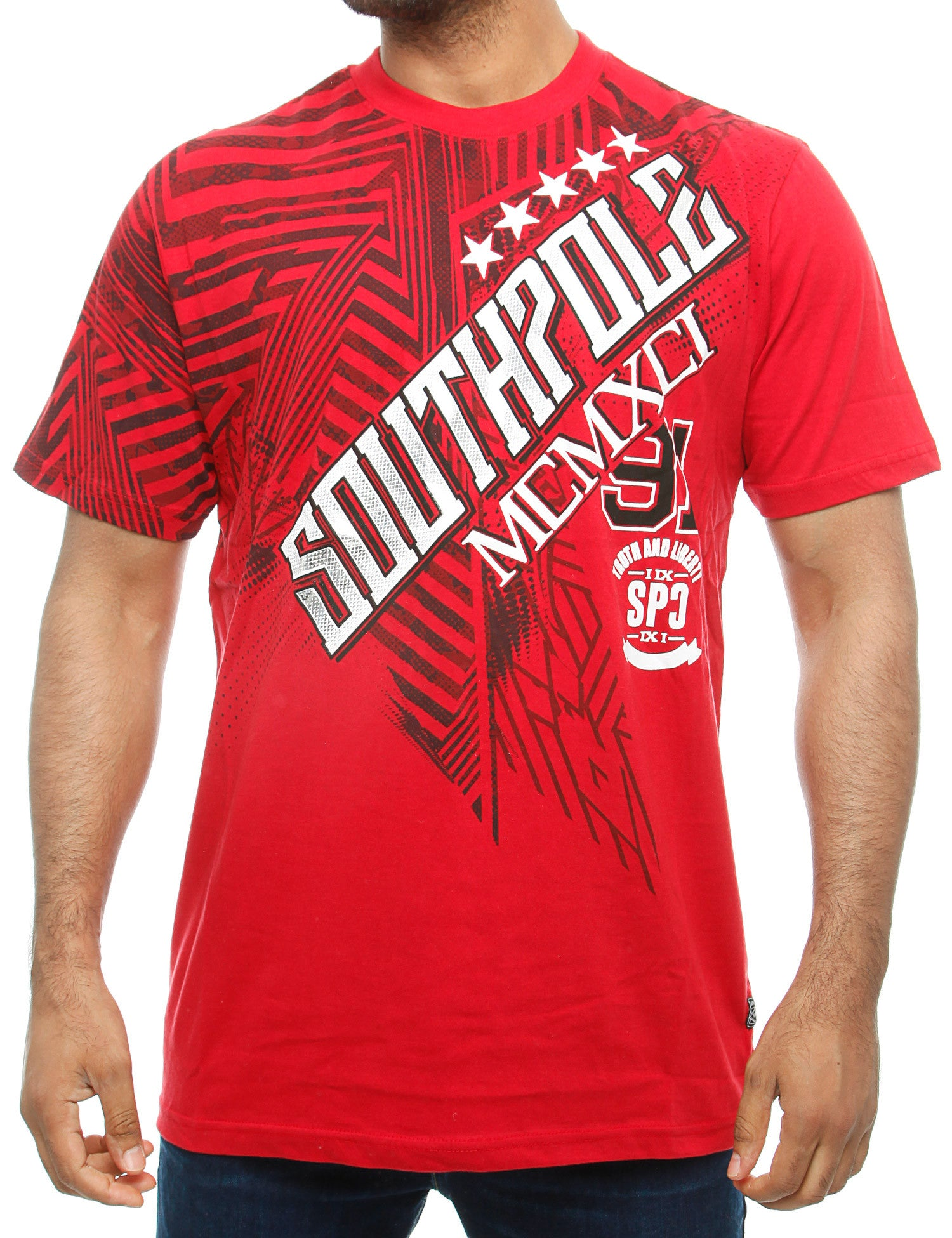 Southpole T-Shirt 16321-1042 Dk. Red