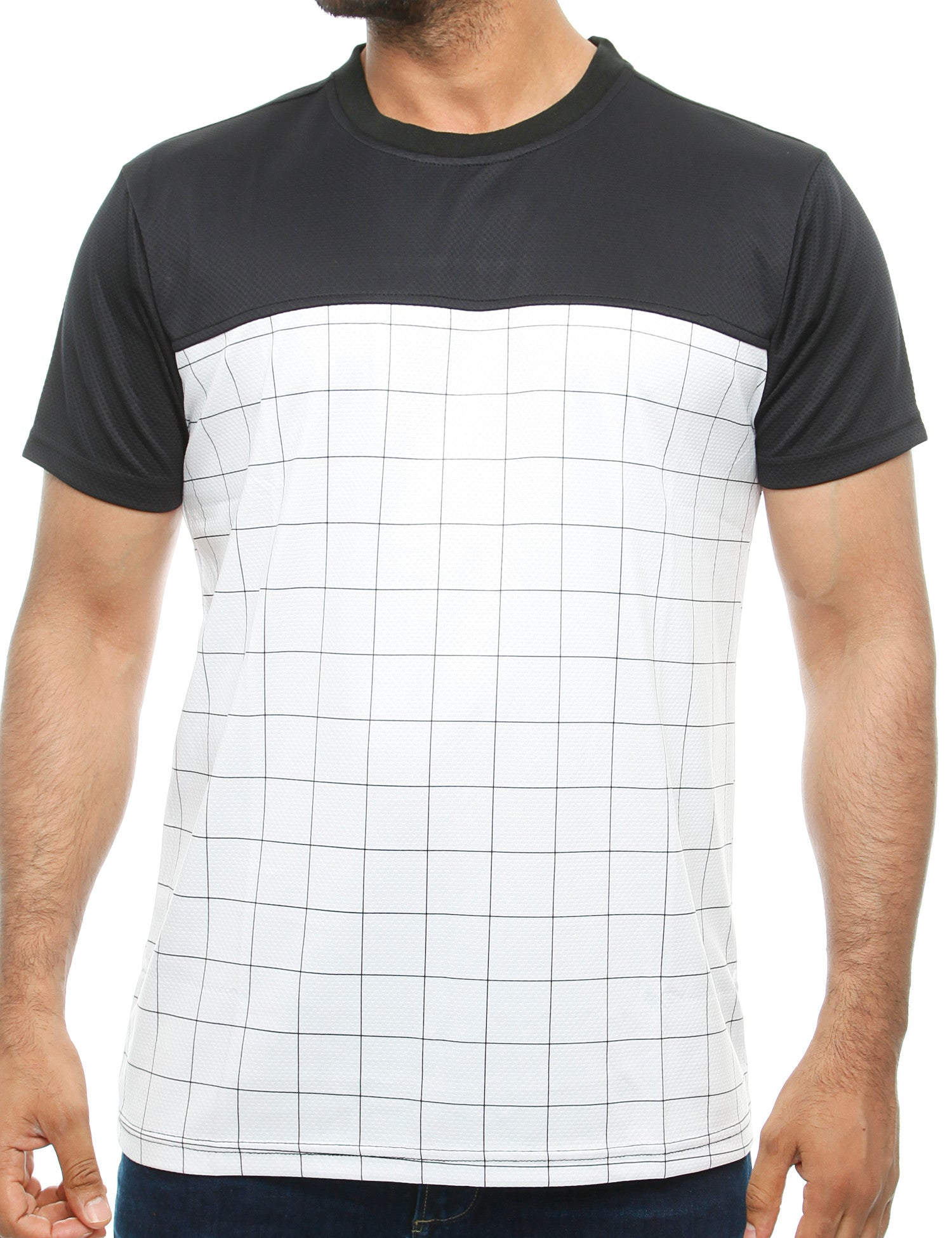 Imperious Mesh Color Block T-Shirt White