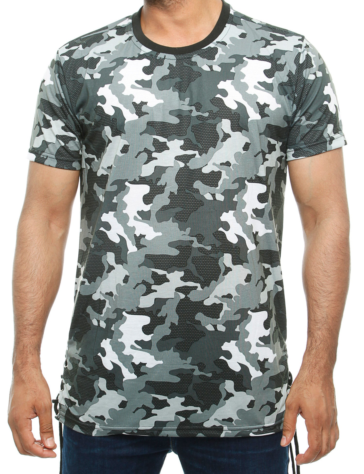 Imperious Camo Long T-Shirt TS603 Black