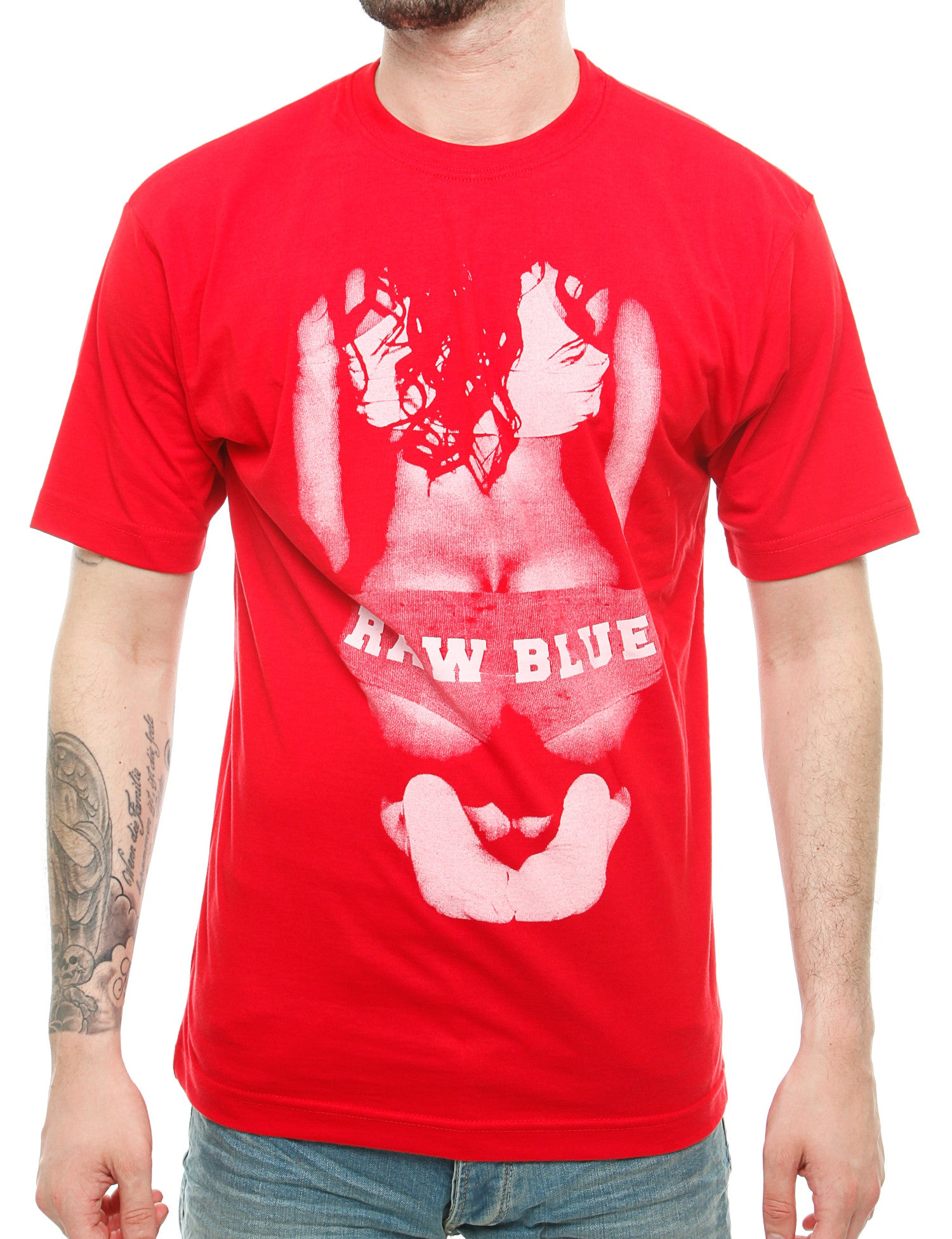 Raw Blue Big Butt T-Shirt RB16-002 Red Red