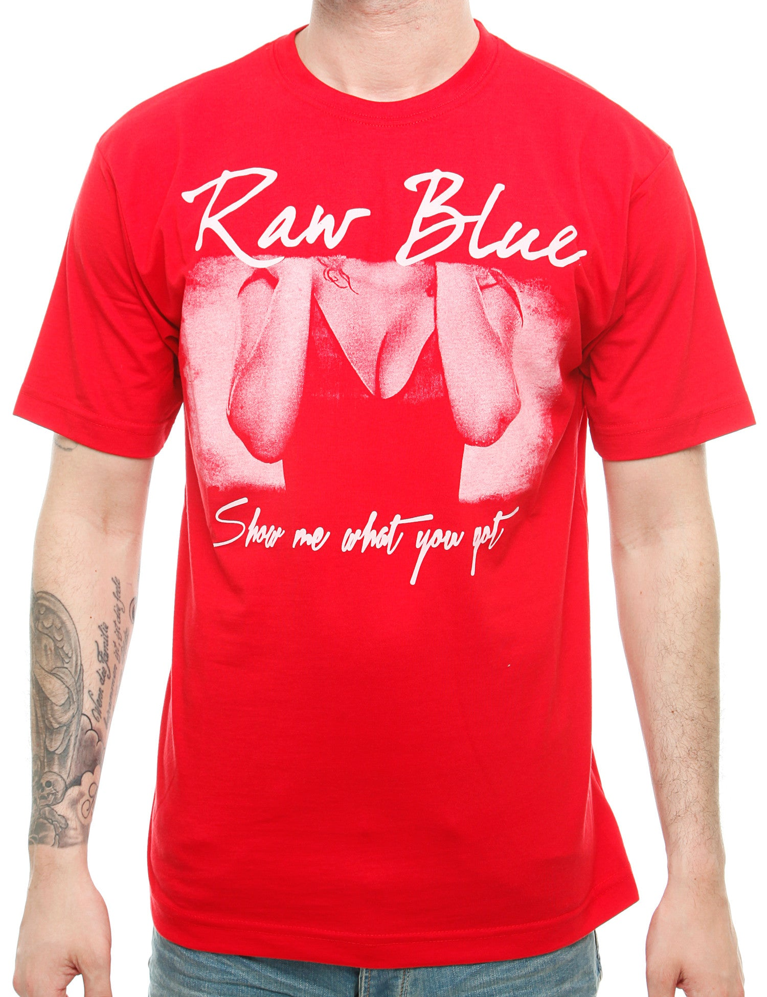 Raw Blue Hottie T-Shirt RB16-003 Red Red