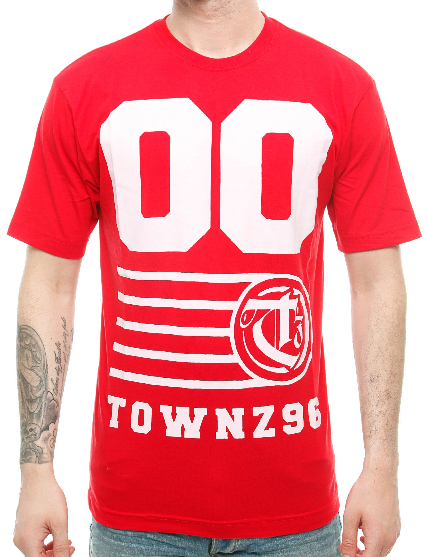 Townz 96 T-Shirt TNZ16-004 Red Red