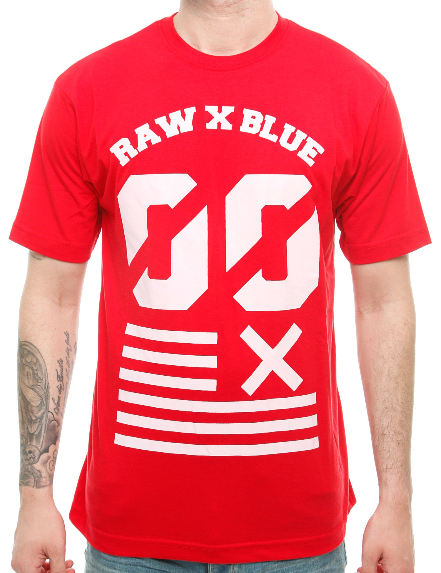 Raw Blue Double Zero T-Shirt RB16-009 Red Red