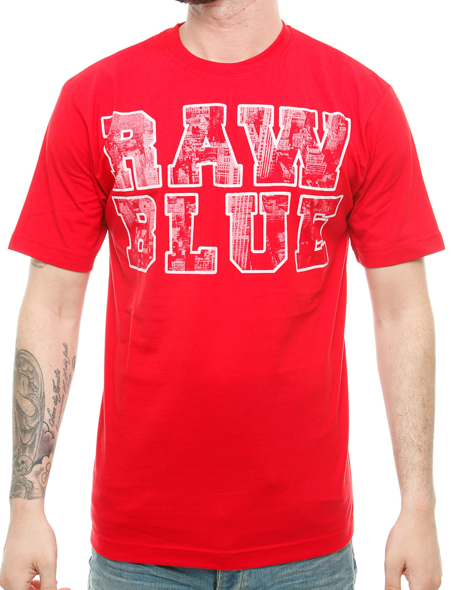 Raw Blue Skyline T-Shirt RB16-001 Red Red