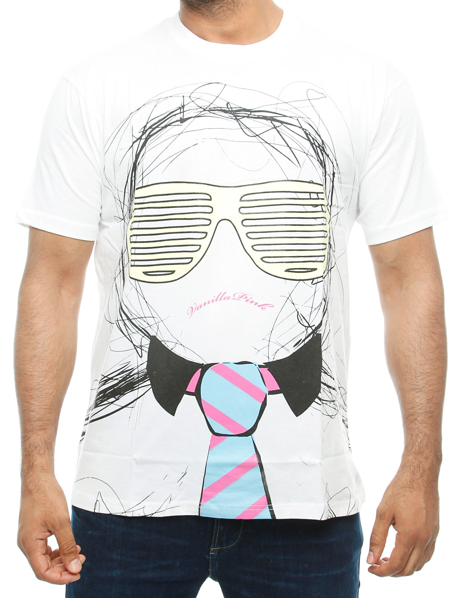 Vanilla Pink THE SHUTTER SHADE  T-Shirt  White