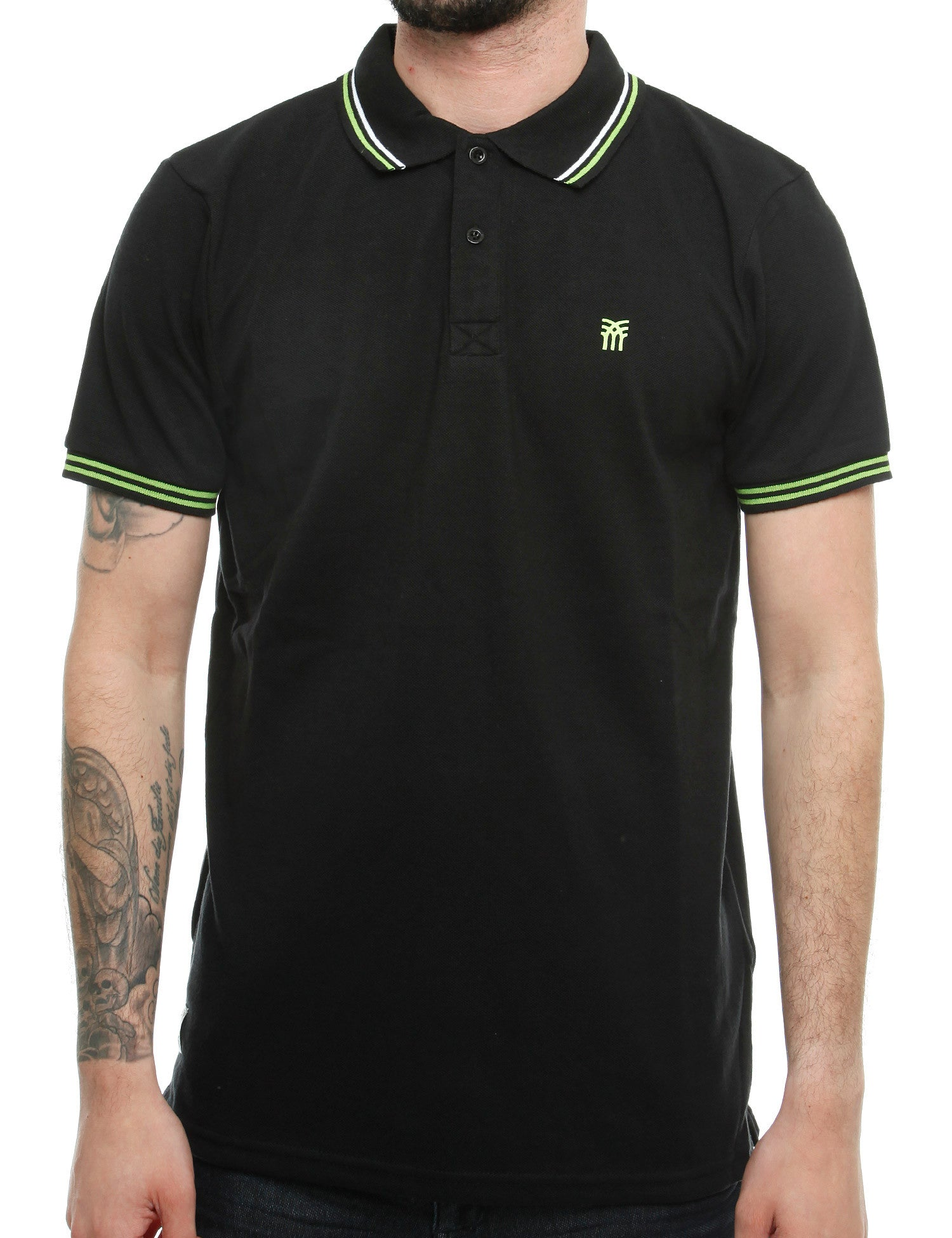 Fenchurch BLACKWALL Polo Shirt NSK00021 Optic Black