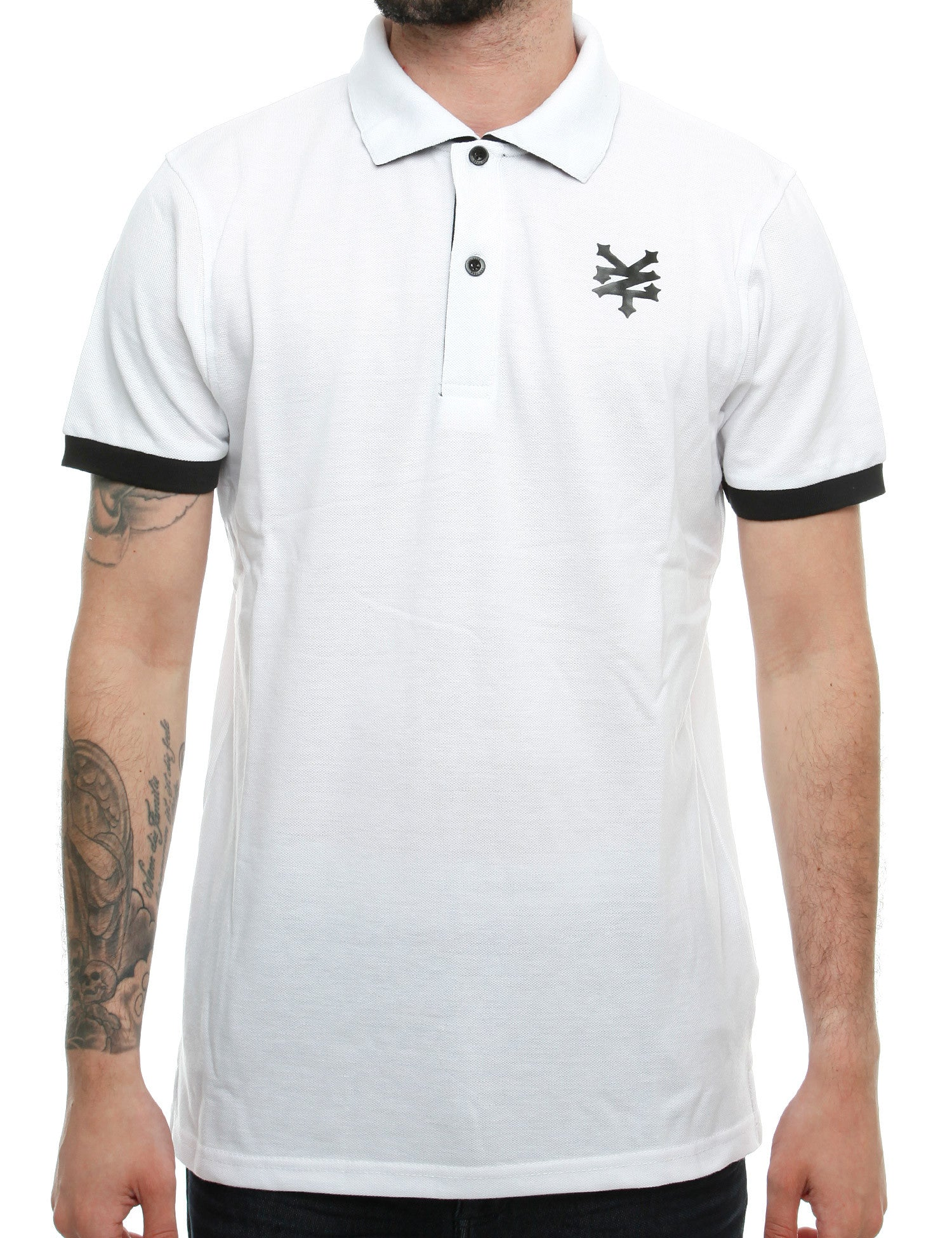 Zoo York Tower Polo Shirt ZSK00155 Optic White