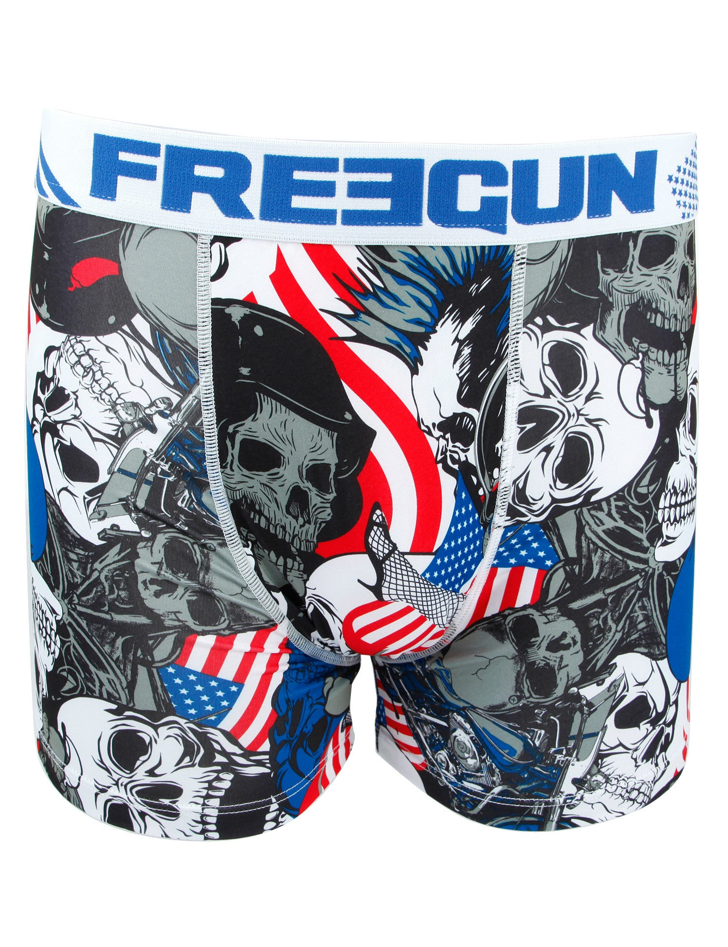 Freegun USA-Skull Boxers Red