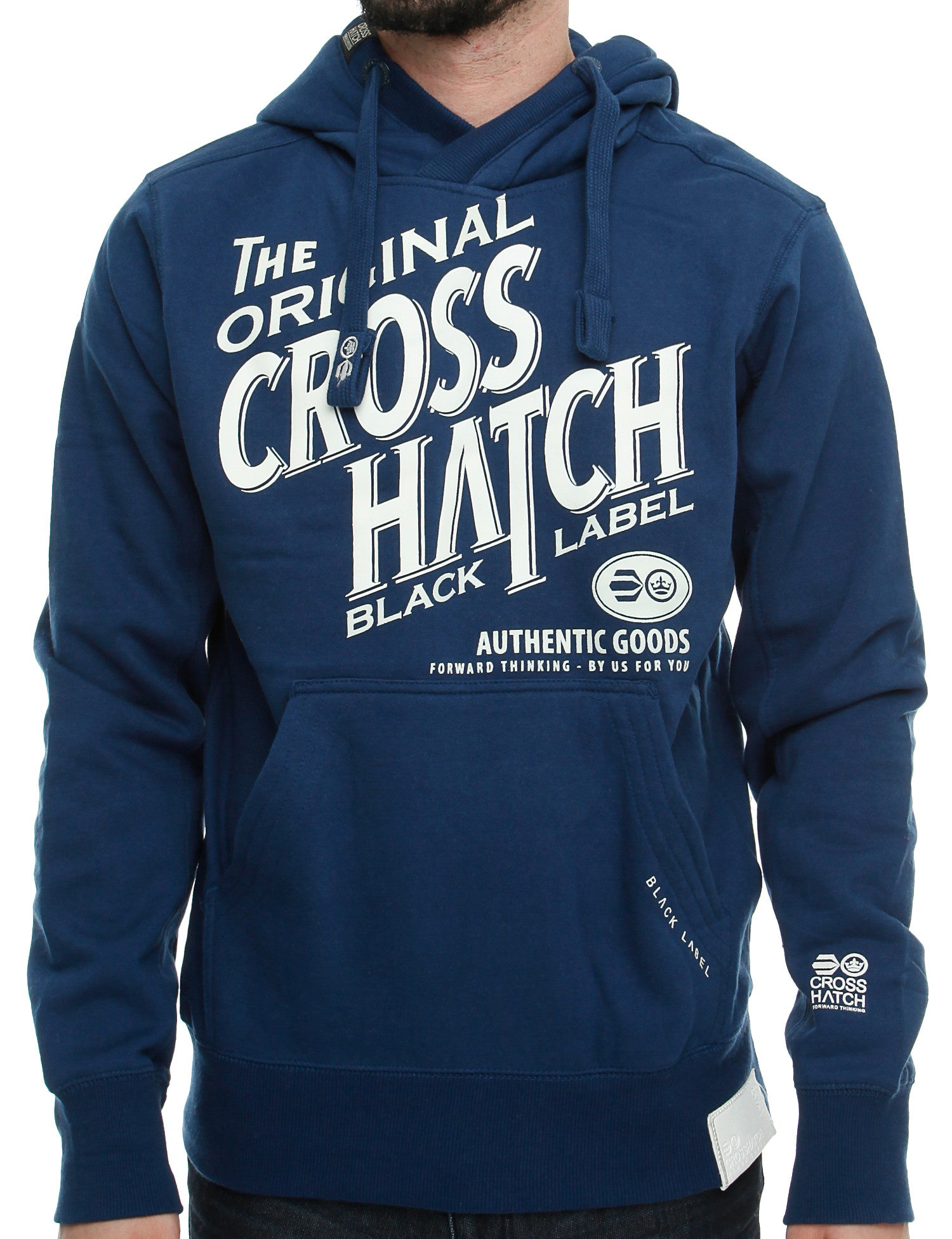 Crosshatch Stippel Hoody CH2E11010099 Blue