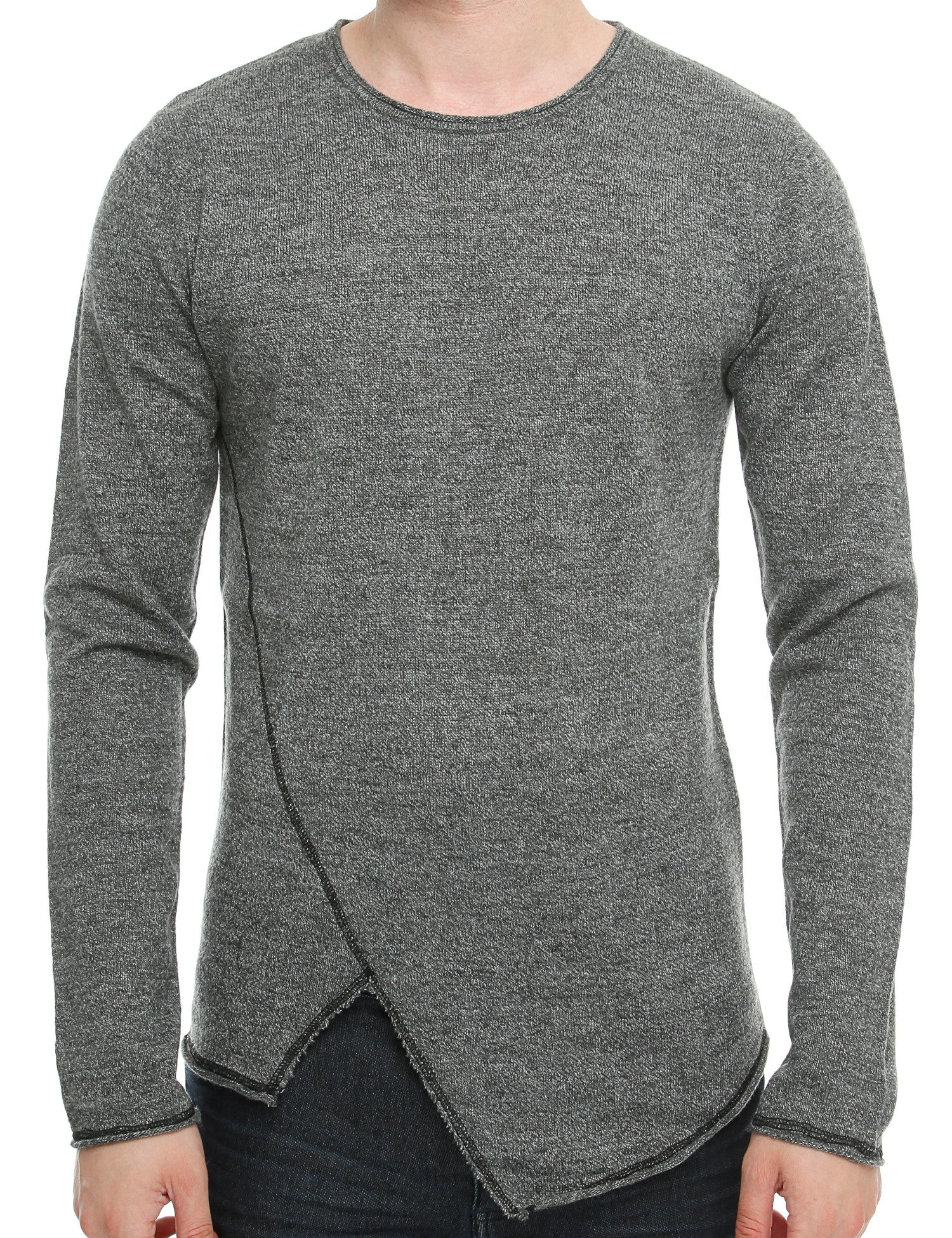 Solid Knit-Erly Crewneck 6162734 Dark Grey