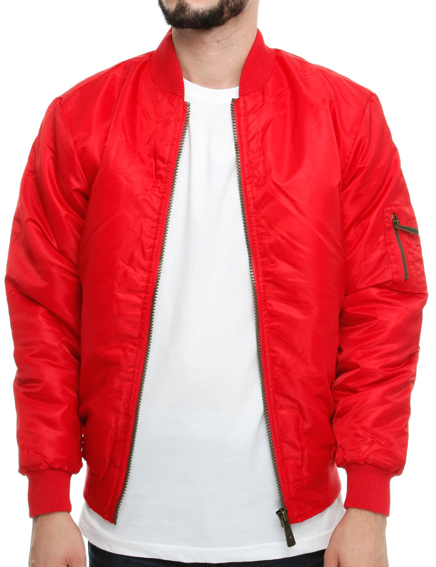 Soul Star MJ-MA1 Bomber Jacket Khaki Red