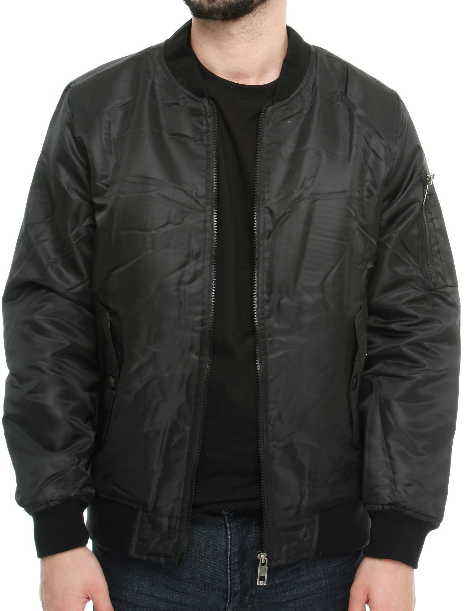 SK-5 SK-MILITARY Bomber Jacket Black