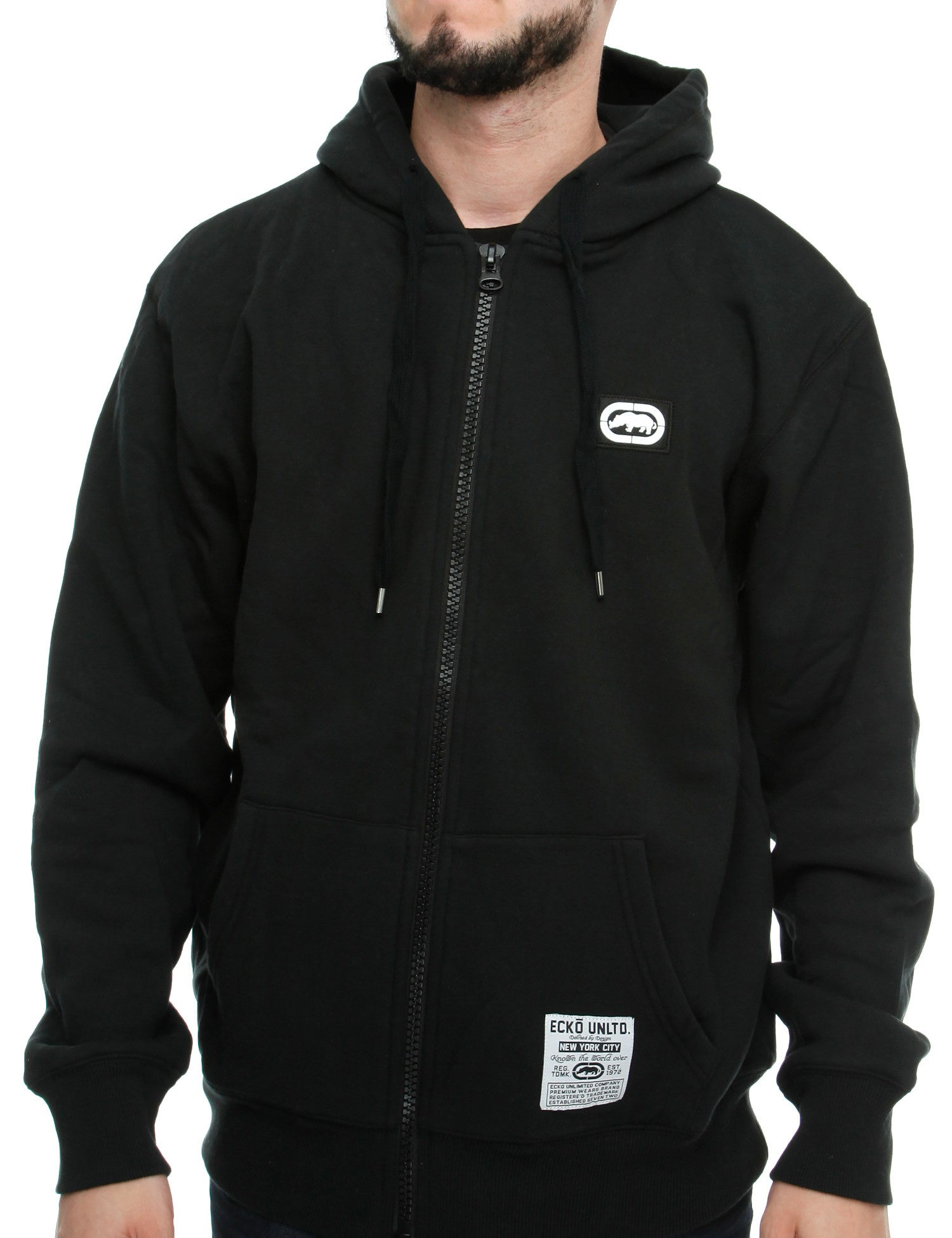 Image of Ecko Pomonda Zip Hoody E7O03782 Black
