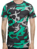 Cabin T-Shirt 718 Lime Green  Camo