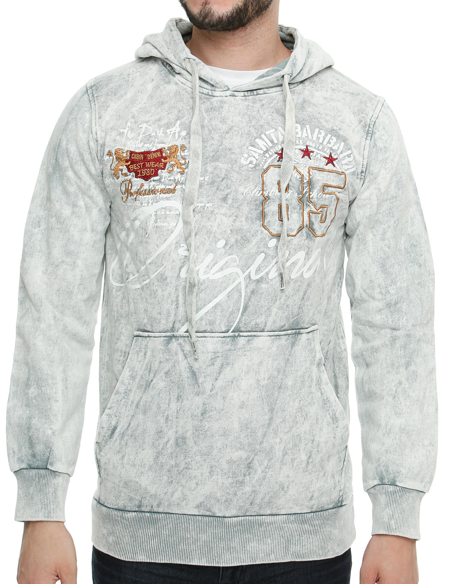 Cabin Hoody 657 Light Grey White