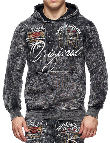 Cabin Hoody 657 Black D.  Grey