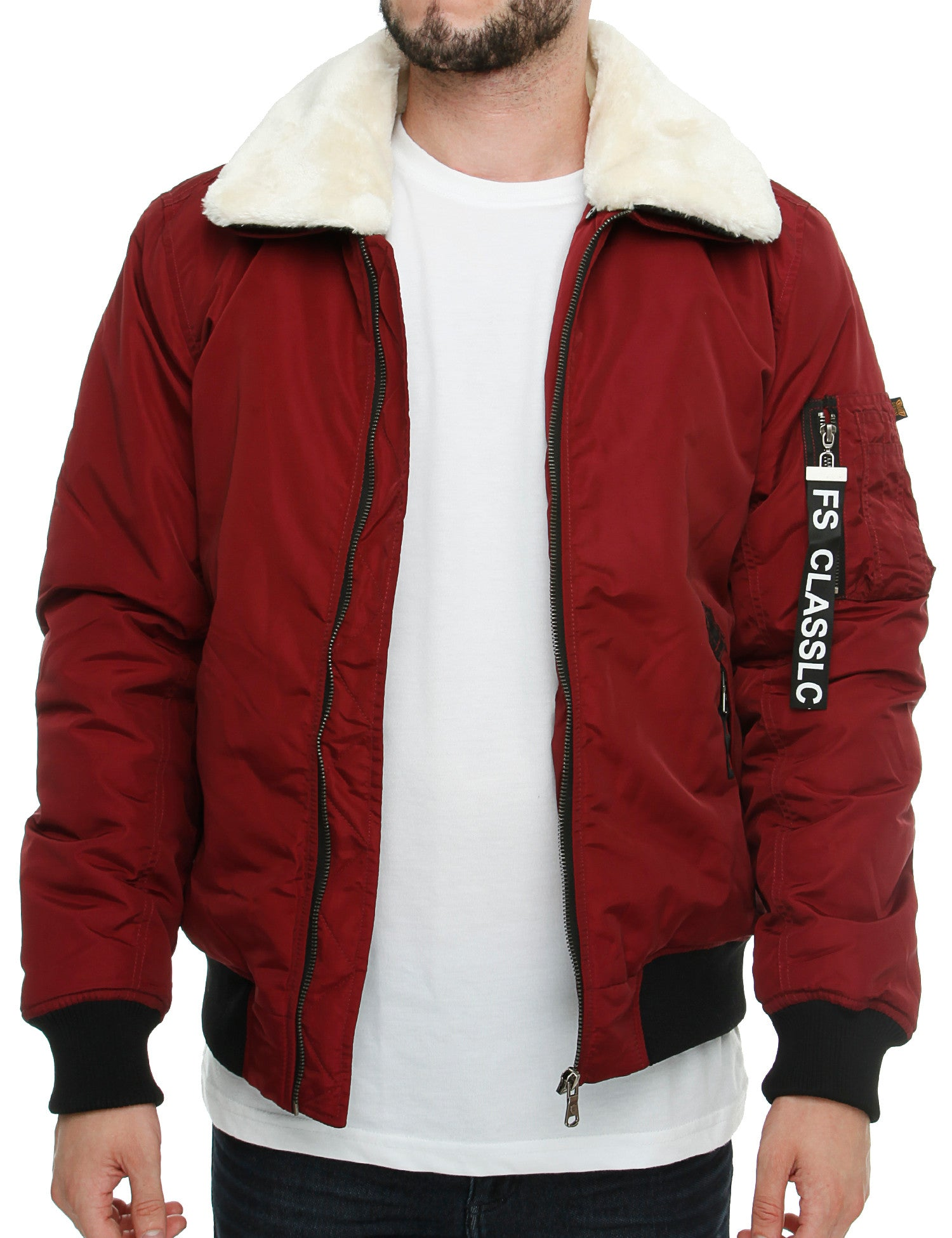 Free Side FS1009 Bomber Jacket  Red