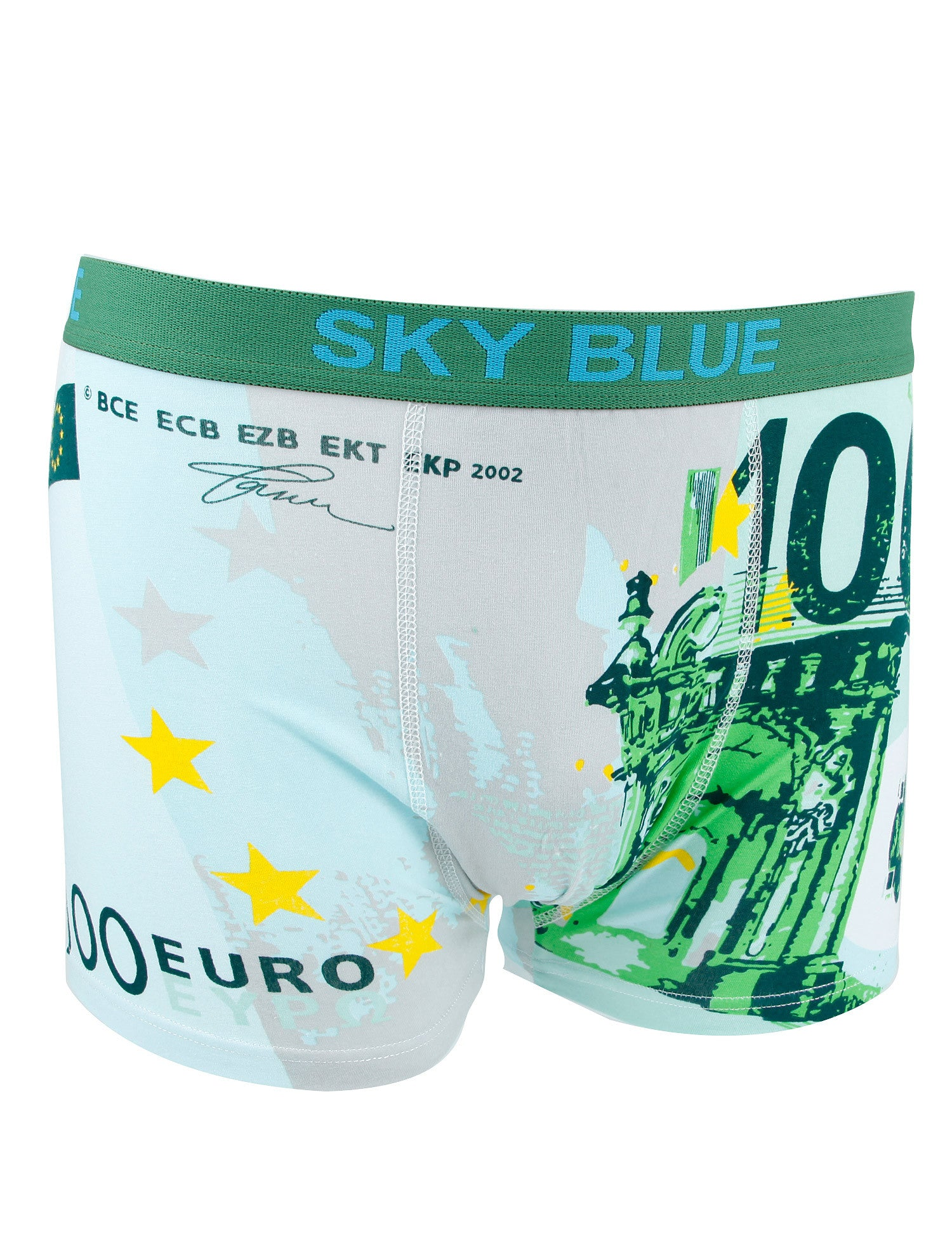 Sky Blue 100€ Boxers M-2085 Green