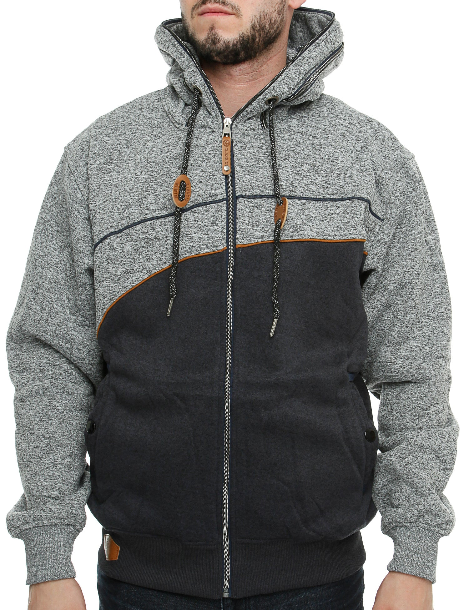 PL Zip Hoody DA-673M Grey Navy