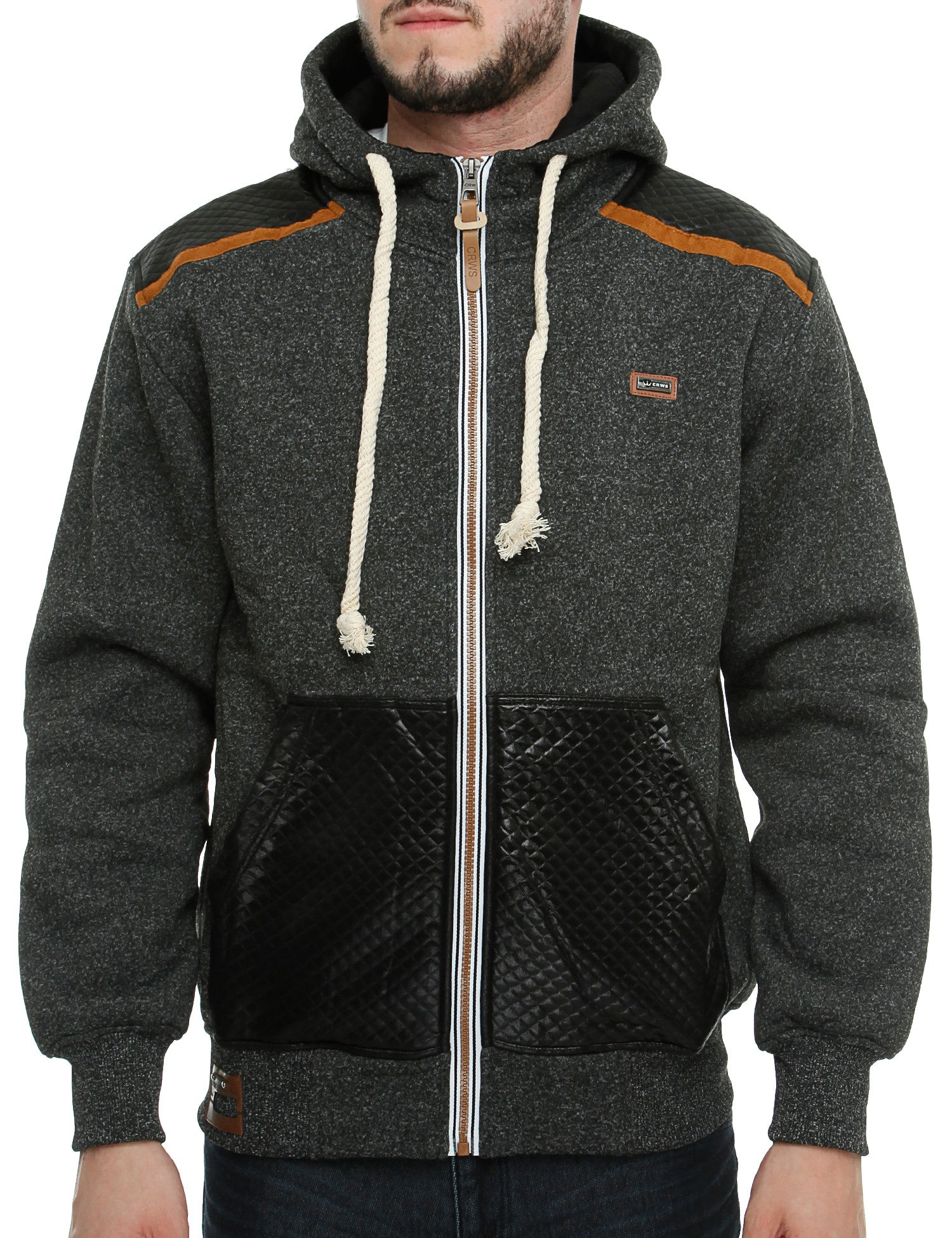 Cyberwear Zip Hoody W-3558 Black Grey