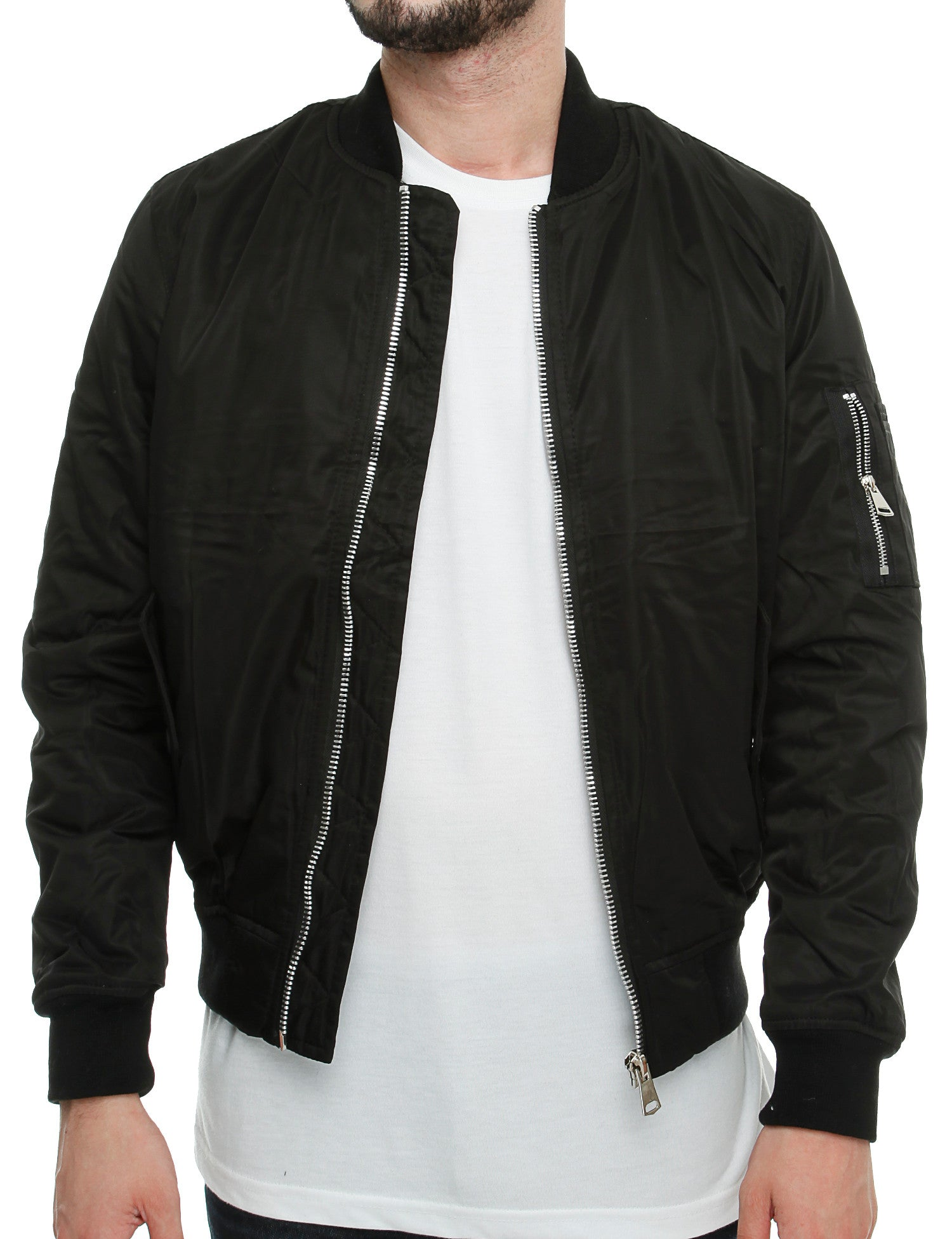 Bomber Jacket K-007  Black