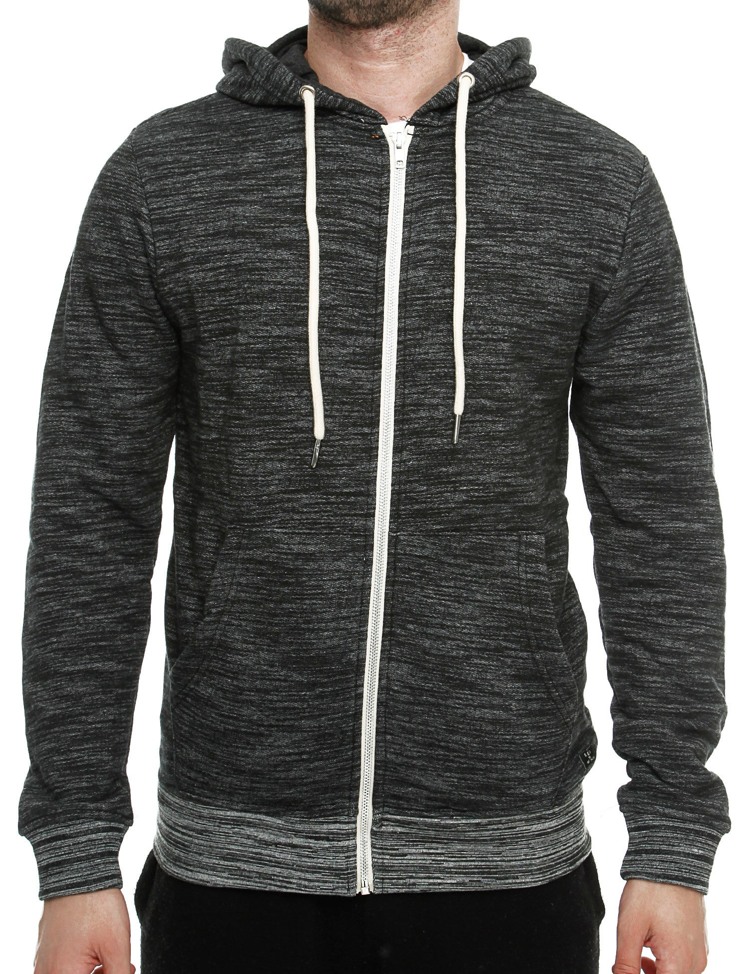 Blend Zip Hoody 20702015 Charcoal Grey