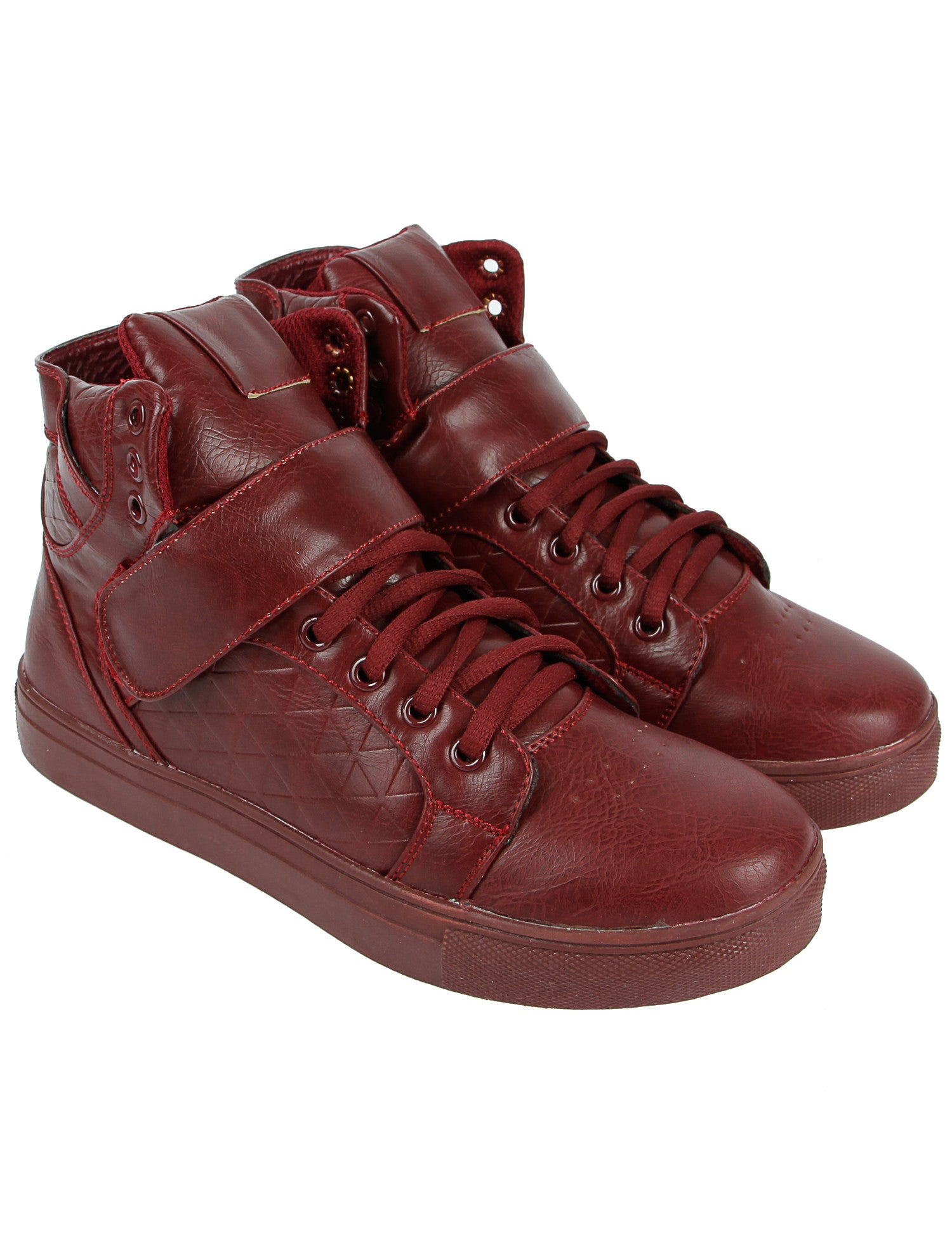 GOV Denim Shoes 008-2BO Burgundy Red