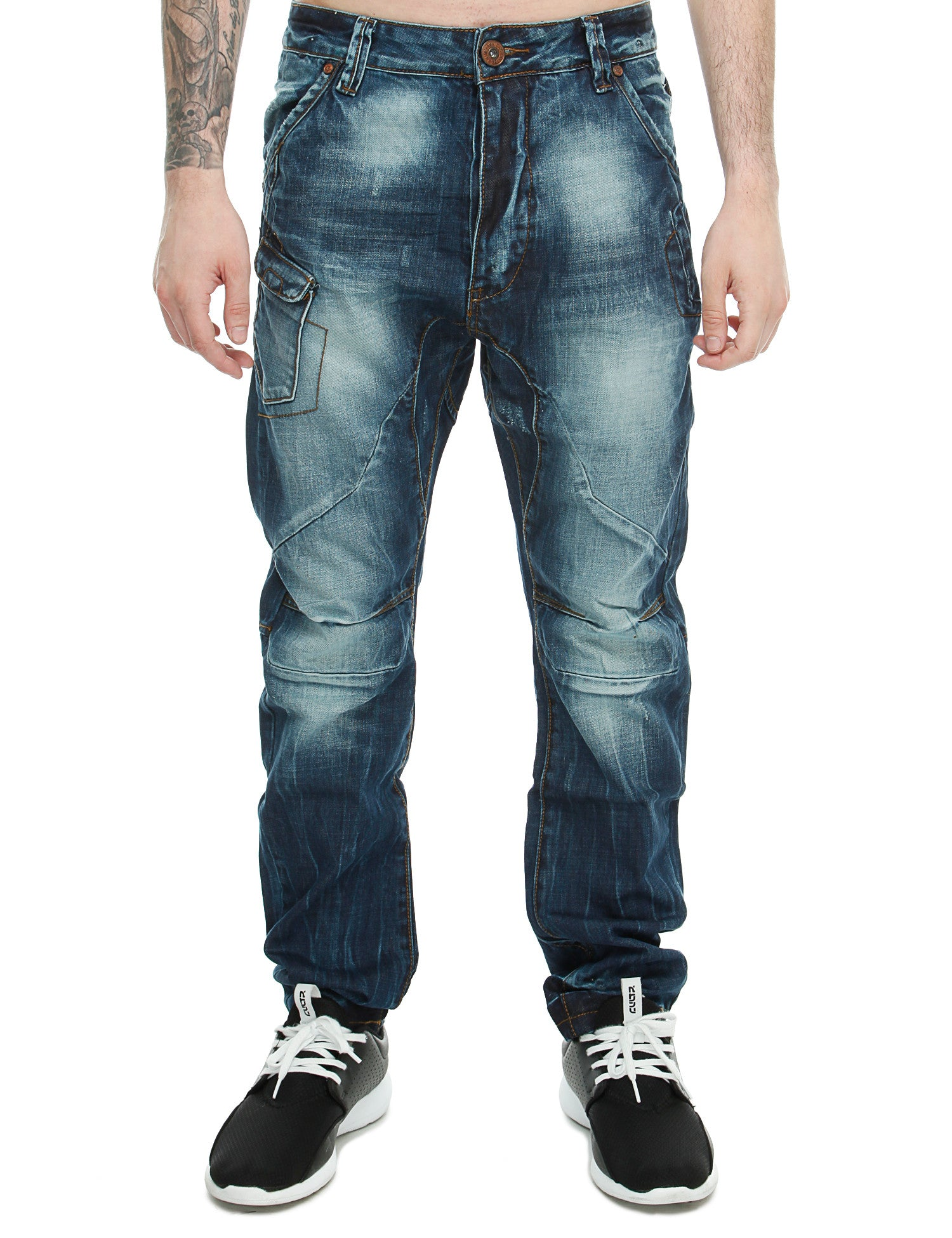 Ross Carra Slim Fit Jeans X8421# Wash Blue