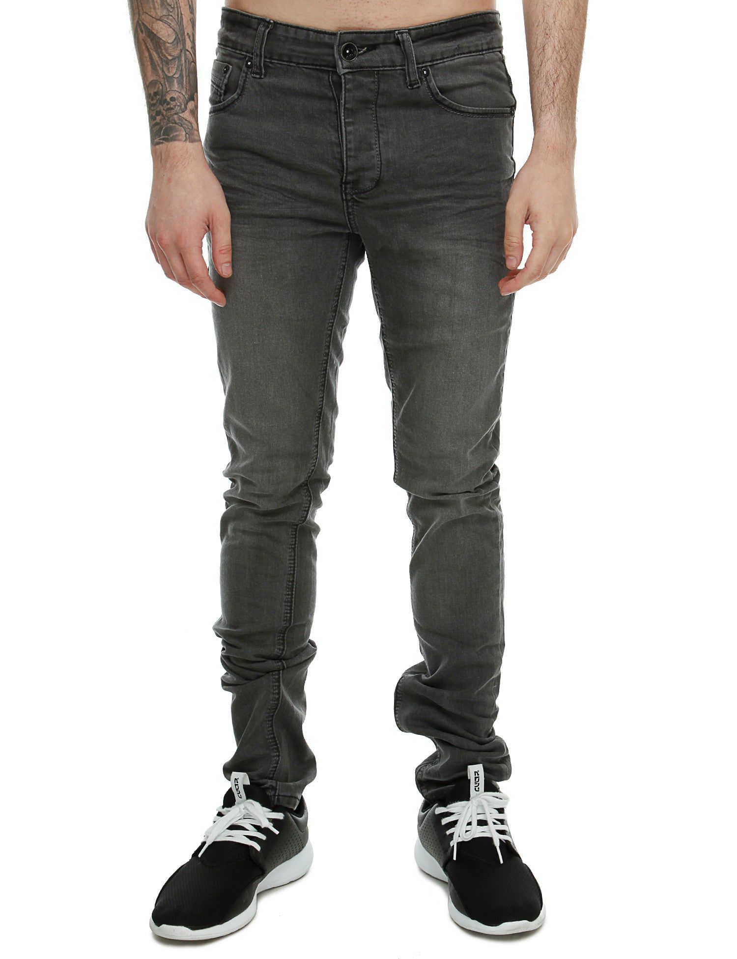Rivaldi Slim Fit Jeans Carim Grey