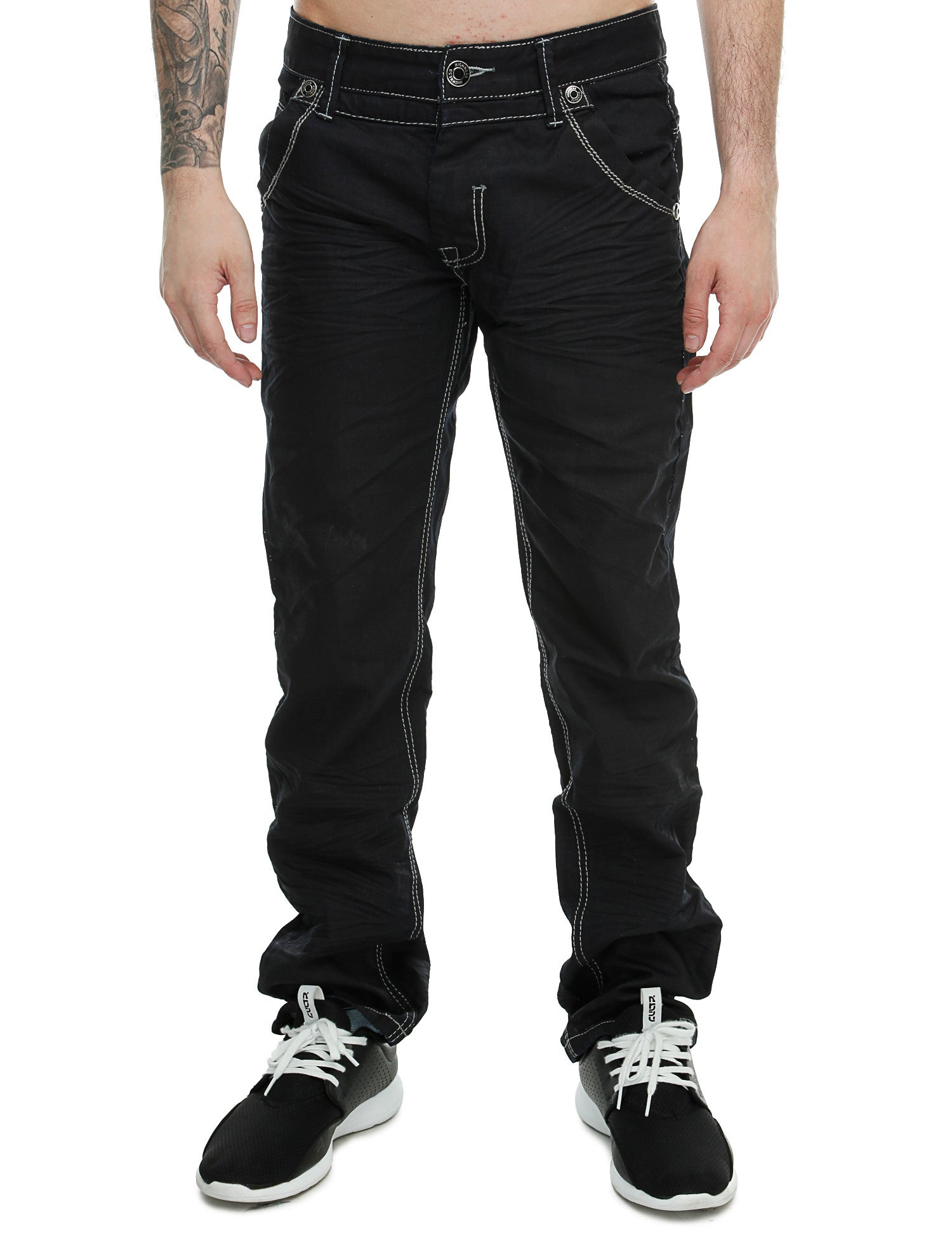 Highness Slim Fit Jeans HN-9007# Black