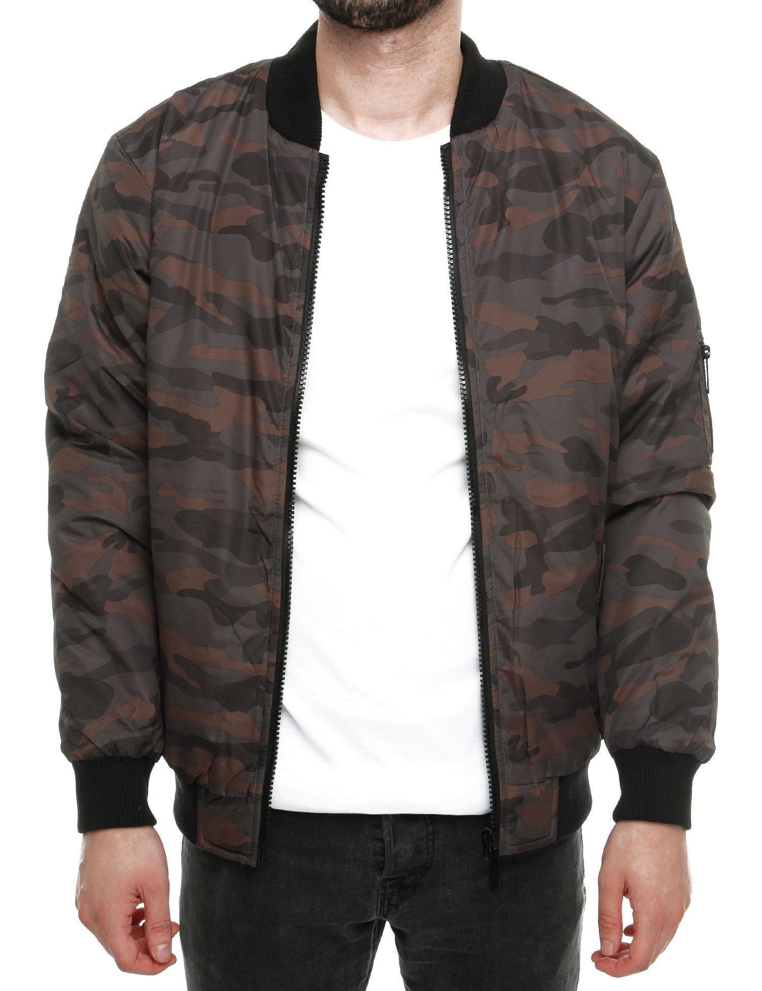 Soul Star MJ-MA1 CAMO Bomber Jacket Green