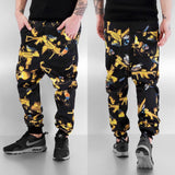 Dangerous DNGRS Birds Deep Crotch Sweat Pants Black