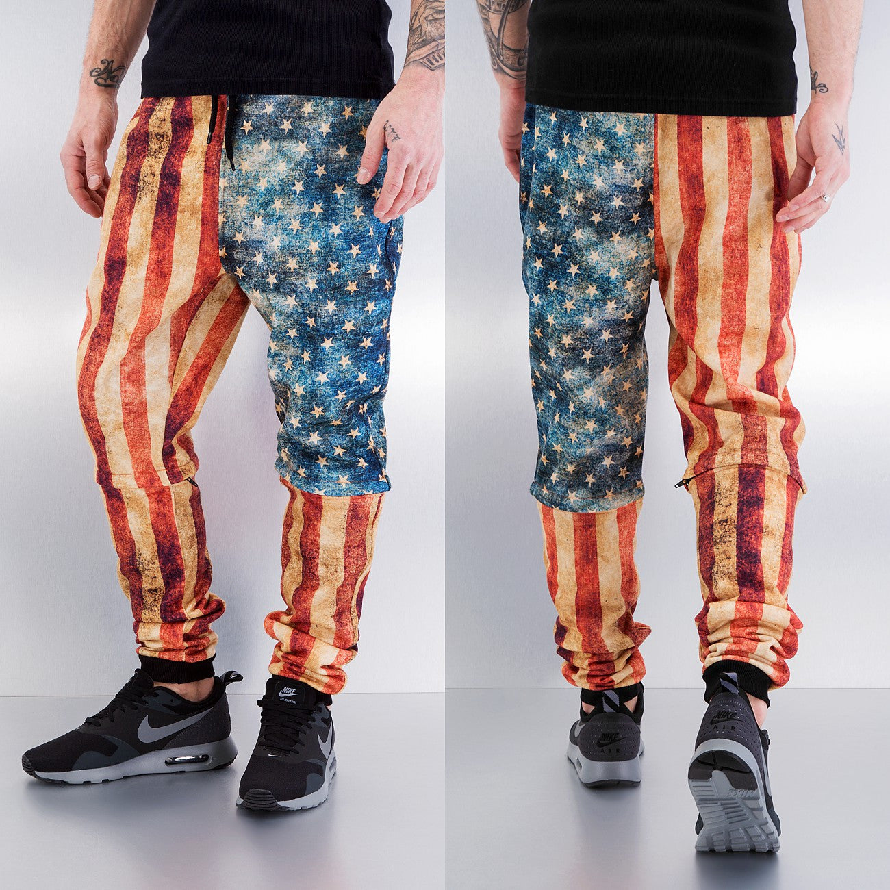Just Rhyse Dirty Flag Sweat Pants  Multi