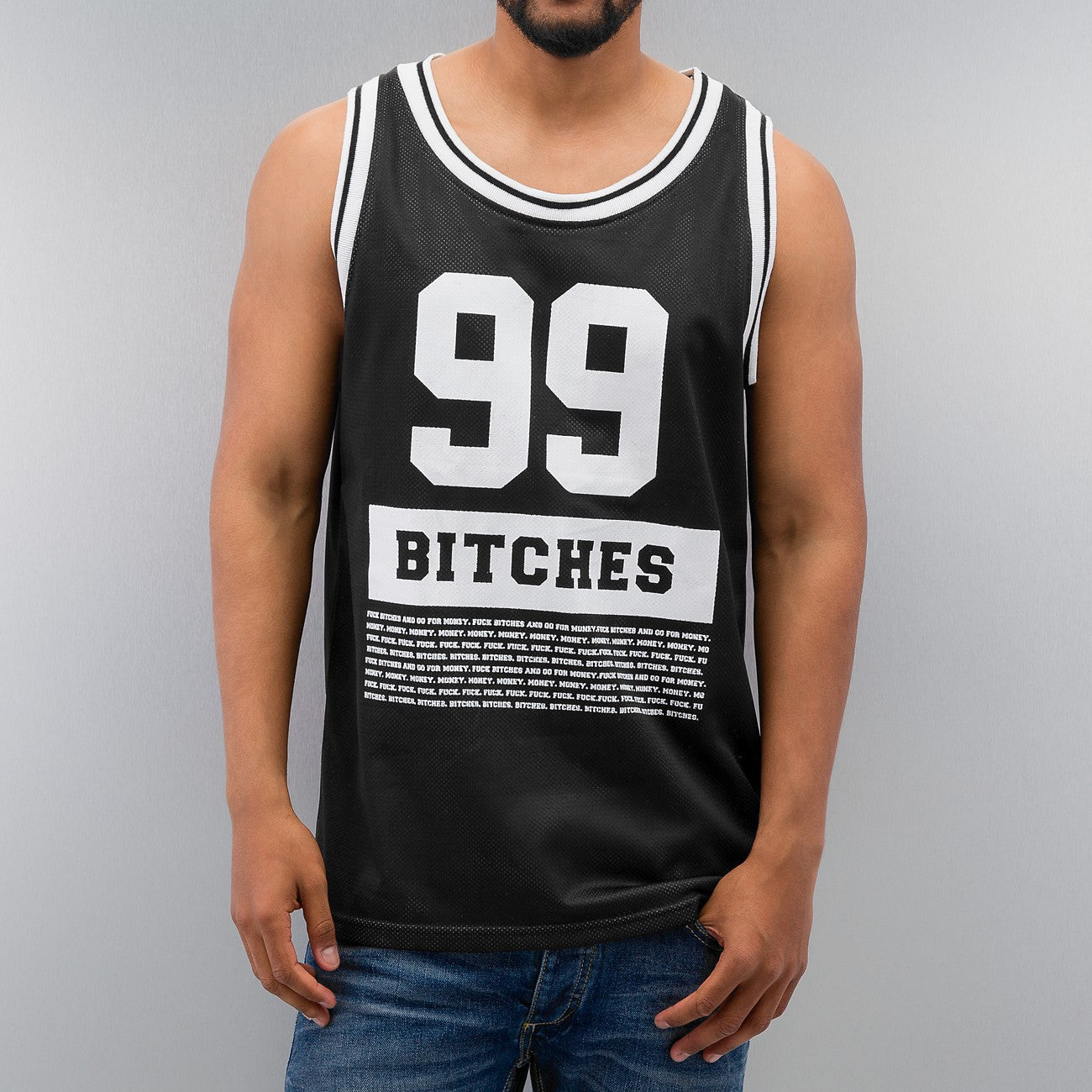 Just Rhyse 99 Bitches Tank Top  Black