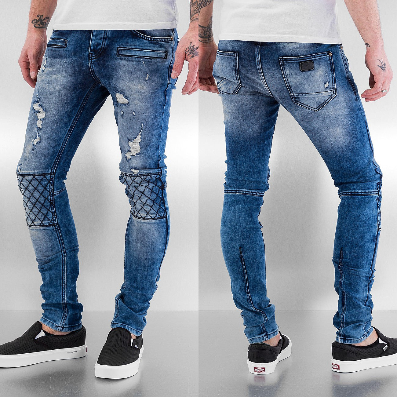 Bangastic Diamond Skinny Fit Jeans  Blue