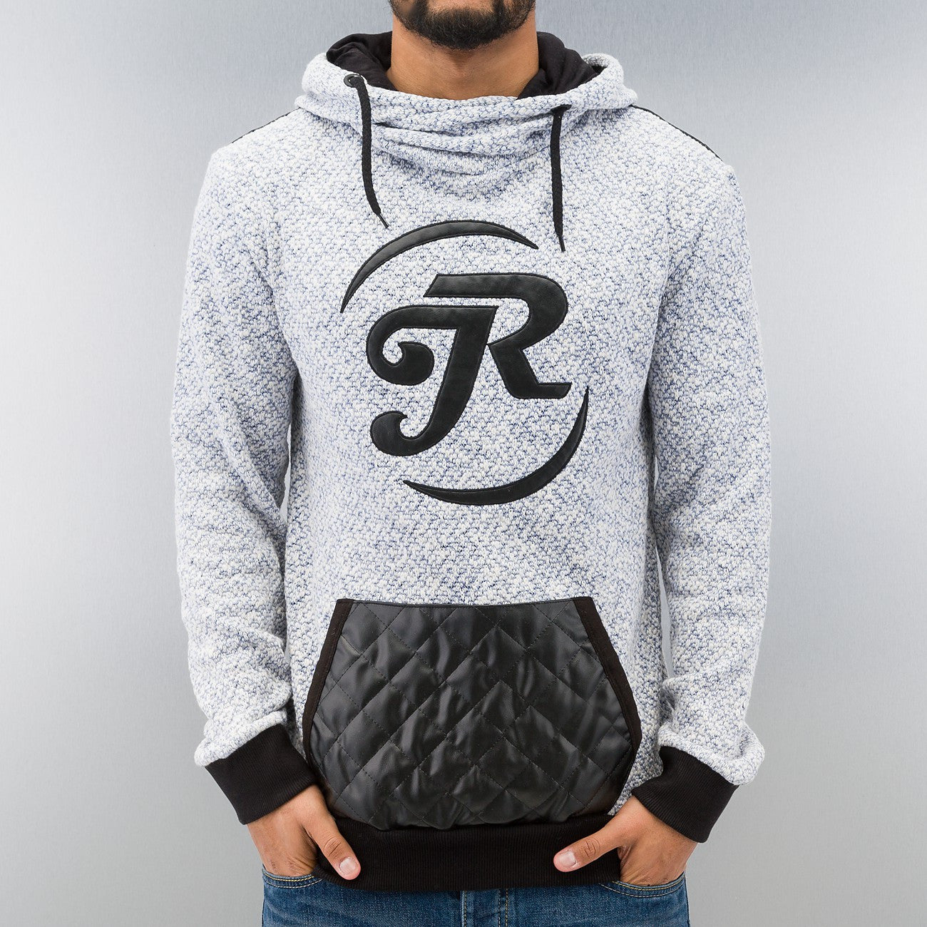 Just Rhyse Logo Knit Hoody  Blue