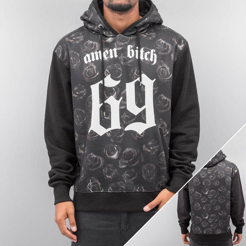 Dangerous DNGRS *B-Ware* amen bitch 69 Hoody Black Black