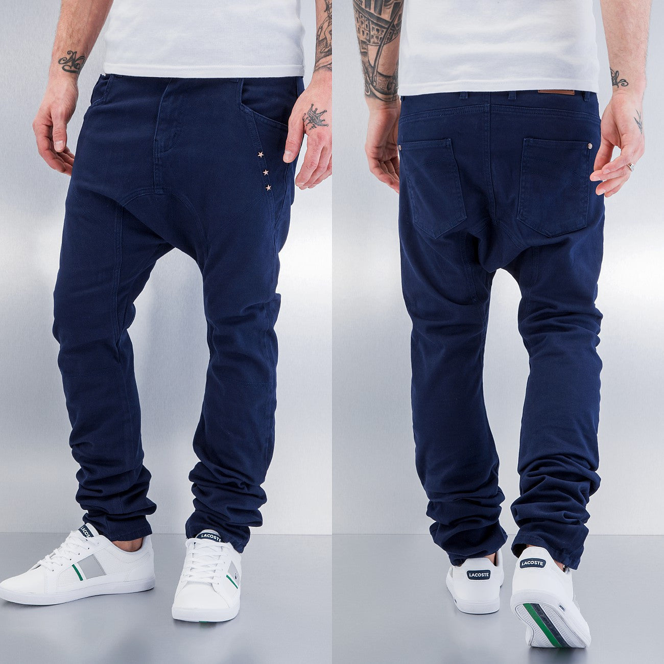 Just Rhyse Three Stars Antifit Jeans  Navy