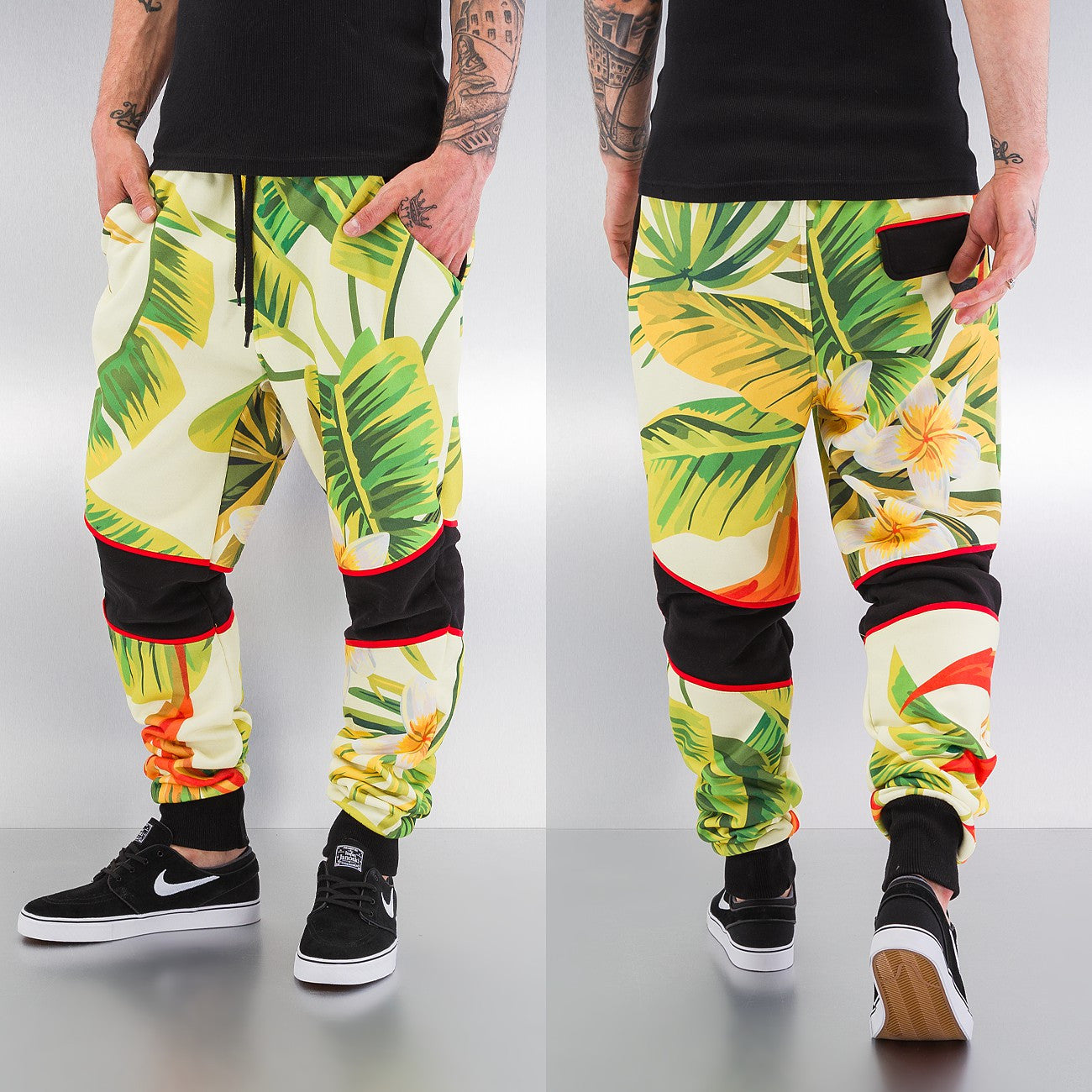 Just Rhyse Flower Sweat Pants  Multi