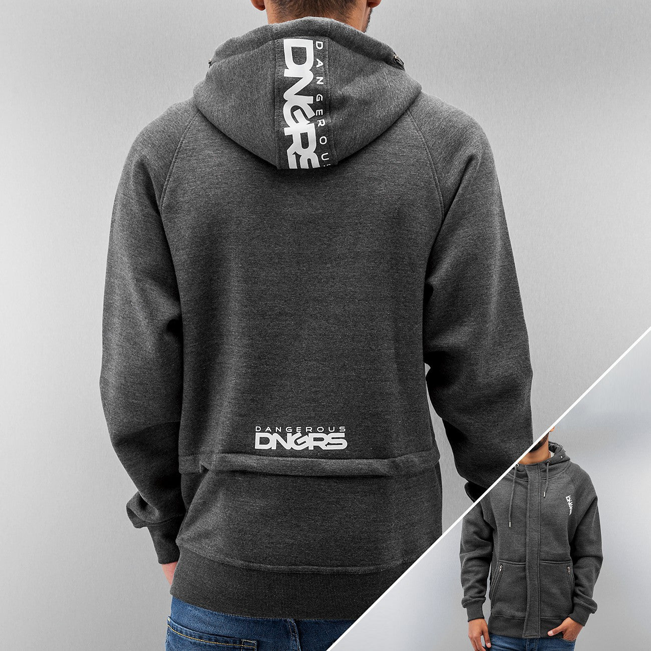 Dangerous DNGRS Freeco Zip Hoody  Grey