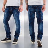 Bangastic Used Straight Fit Jeans  Blue