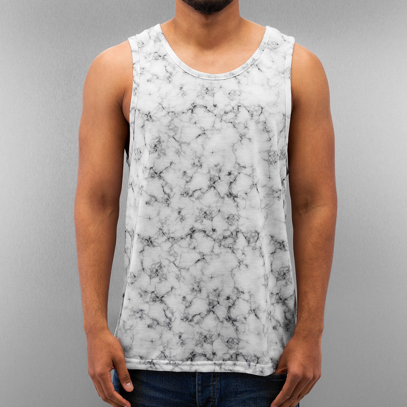 Just Rhyse Marble Tank Top White