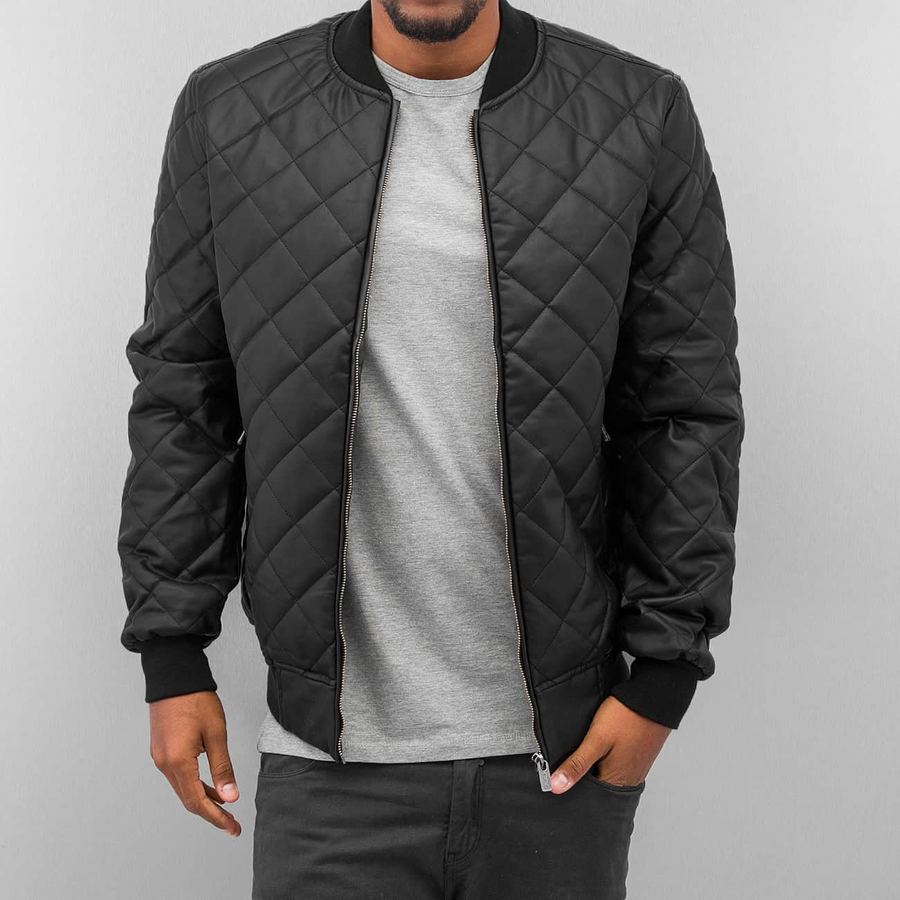 Dangerous DNGRS Quilted II PU Leather Jacket Black Black